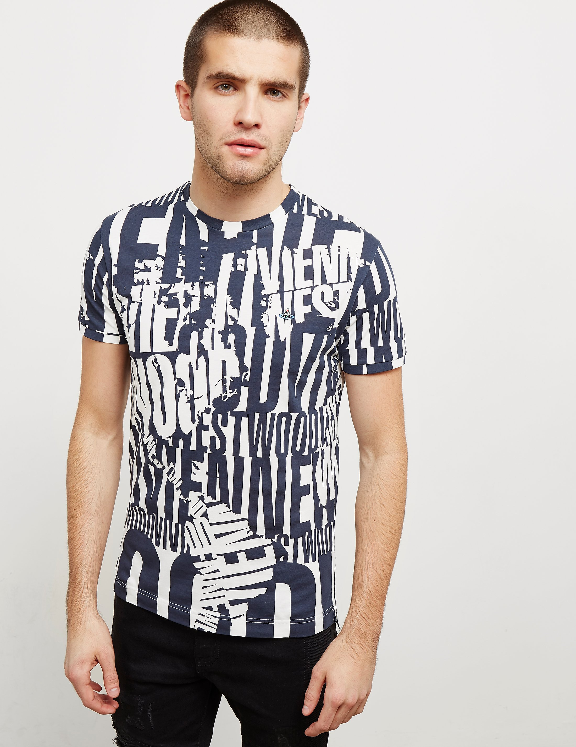 Vivienne Westwood Text Short Sleeve T-Shirt - Online Exclusive