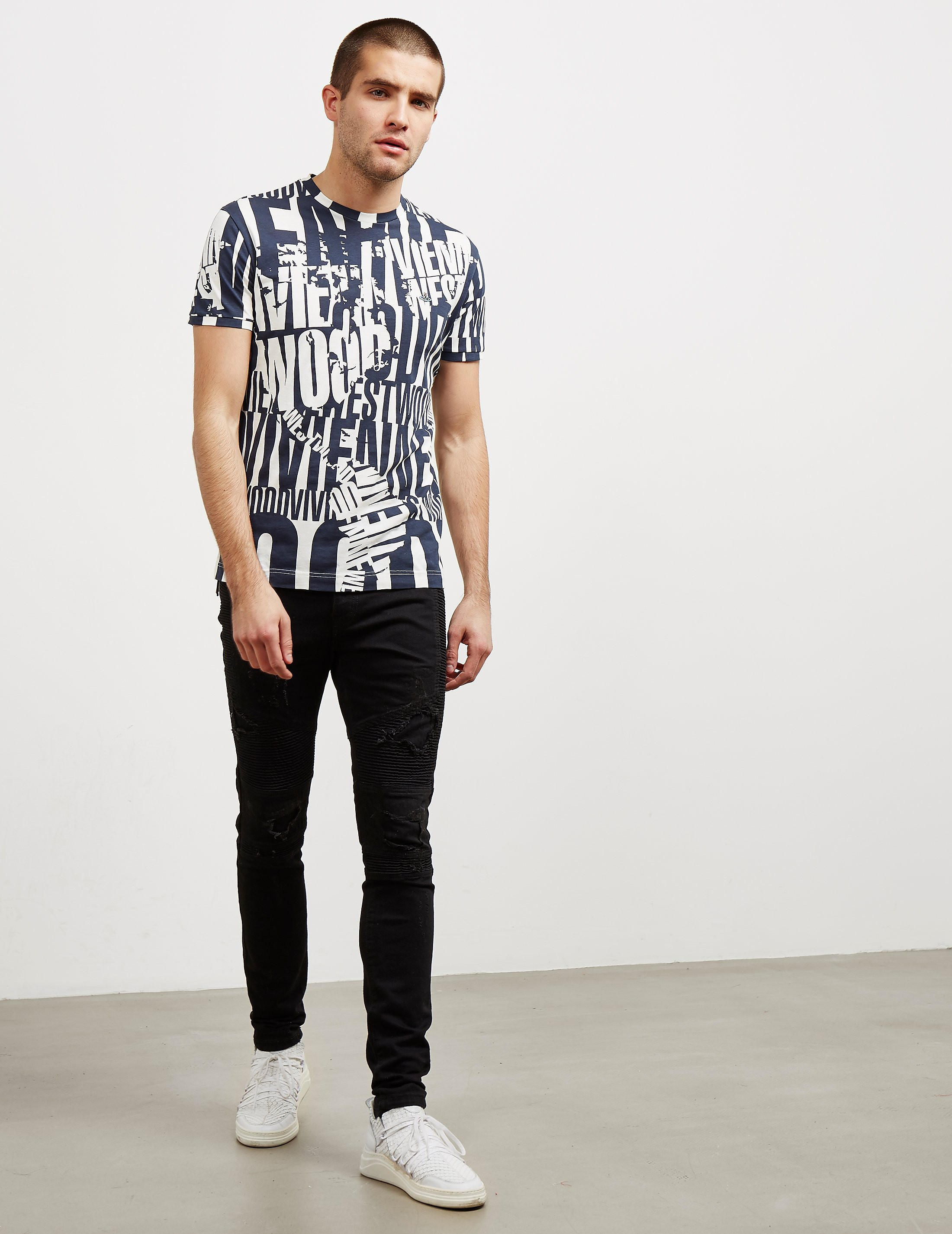 Vivienne Westwood Text Short Sleeve T-Shirt