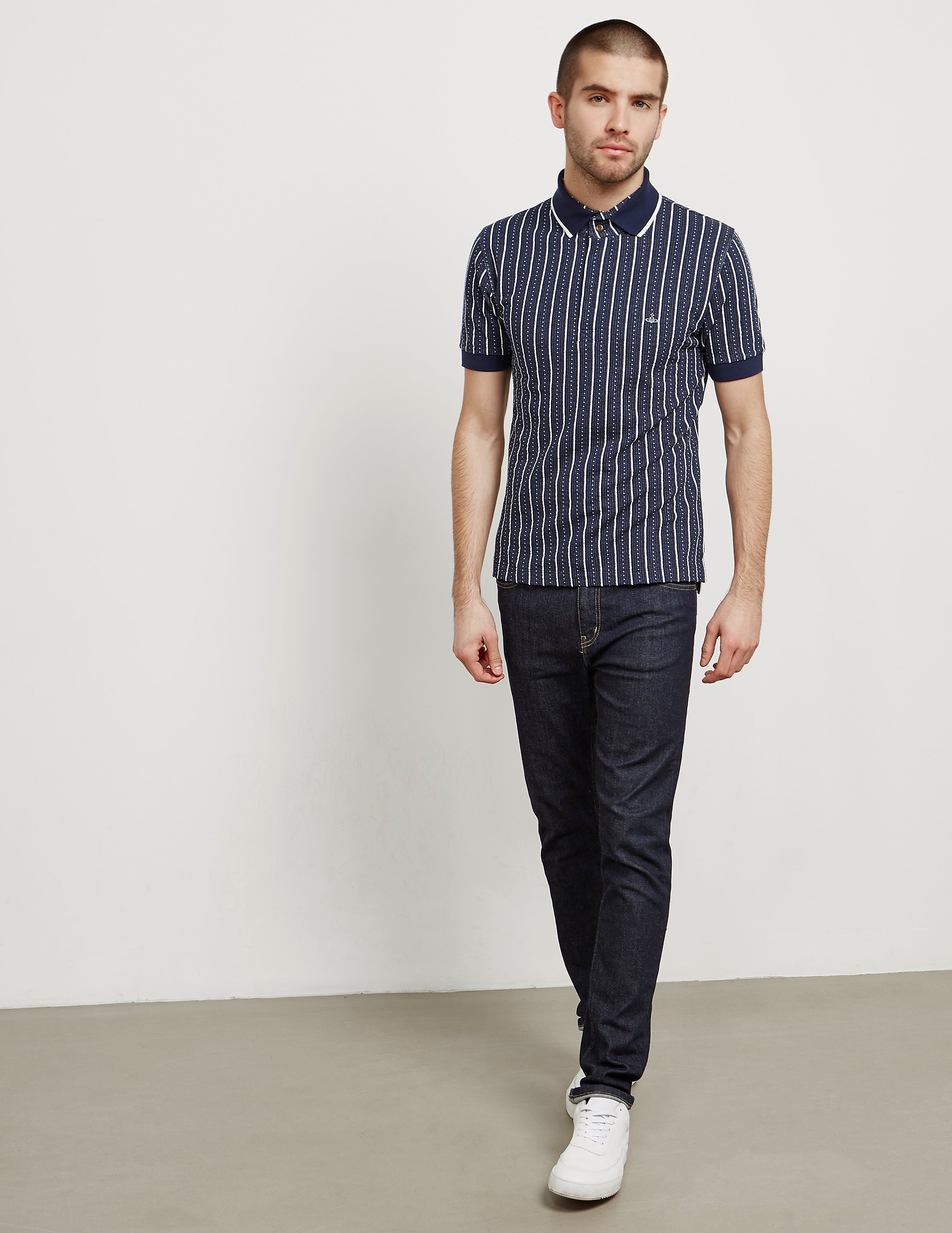 Vivienne Westwood Jacquard Orb Short Sleeve Polo Shirt
