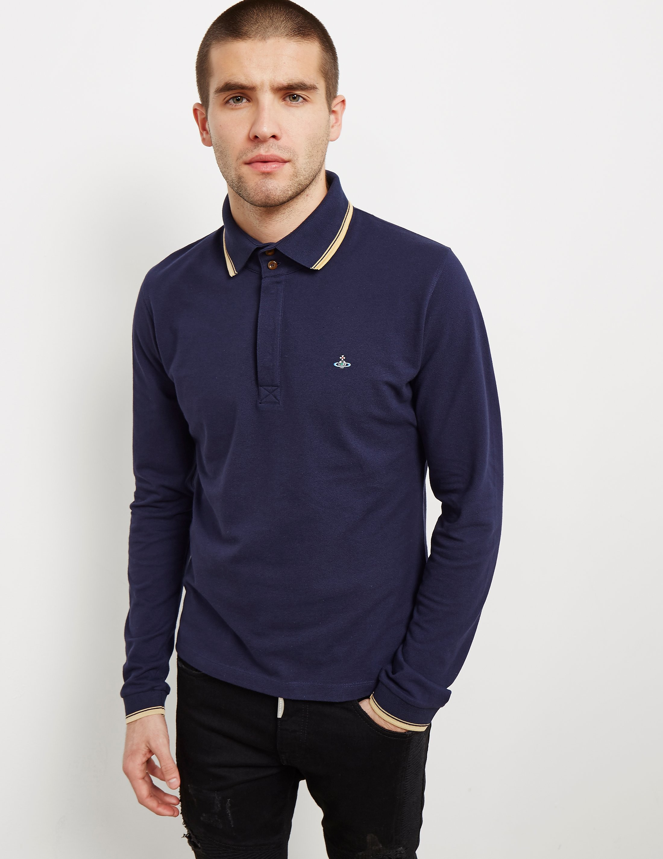 Vivienne Westwood Orb Long Sleeve Polo Shirt