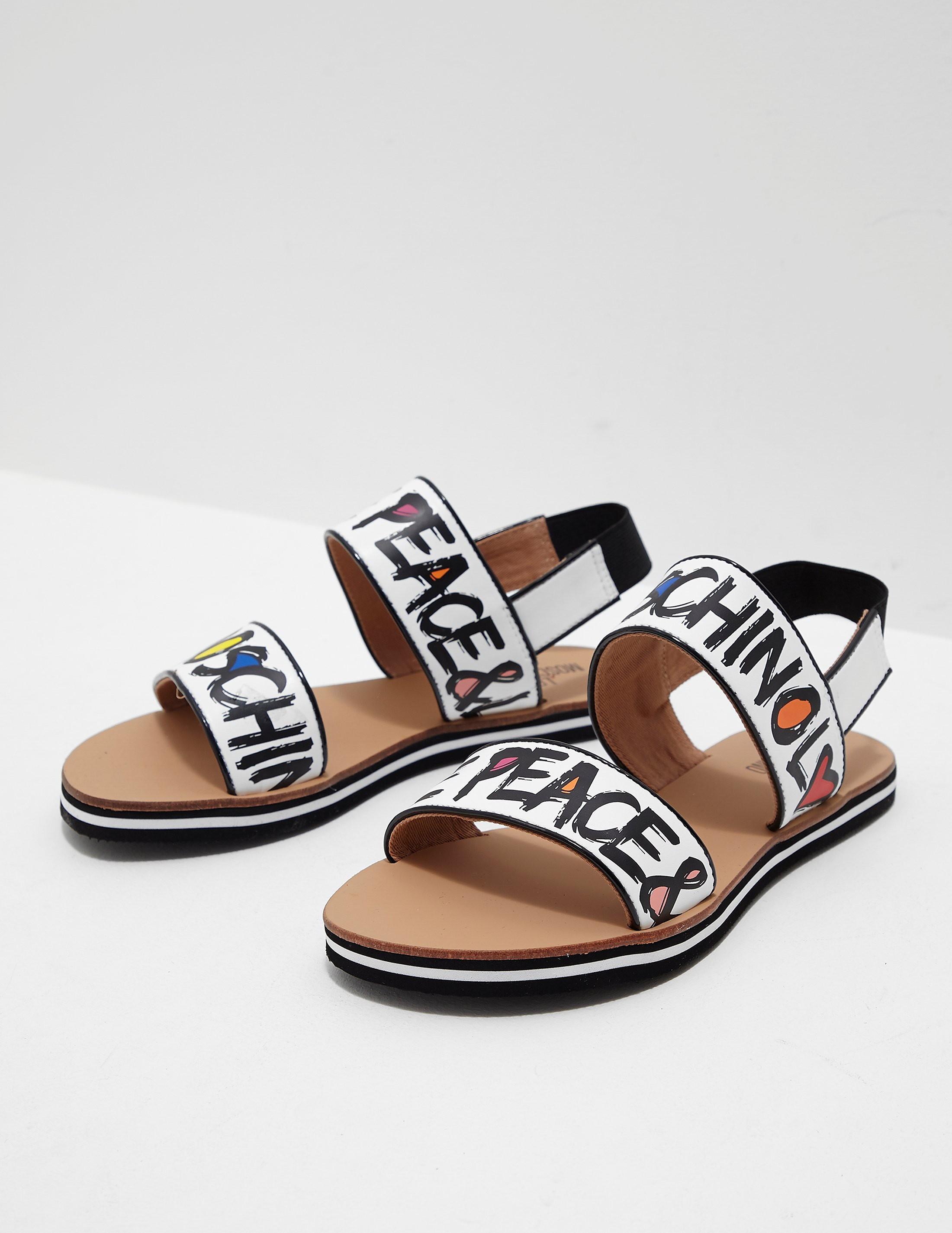 Love Moschino Printed Sandals