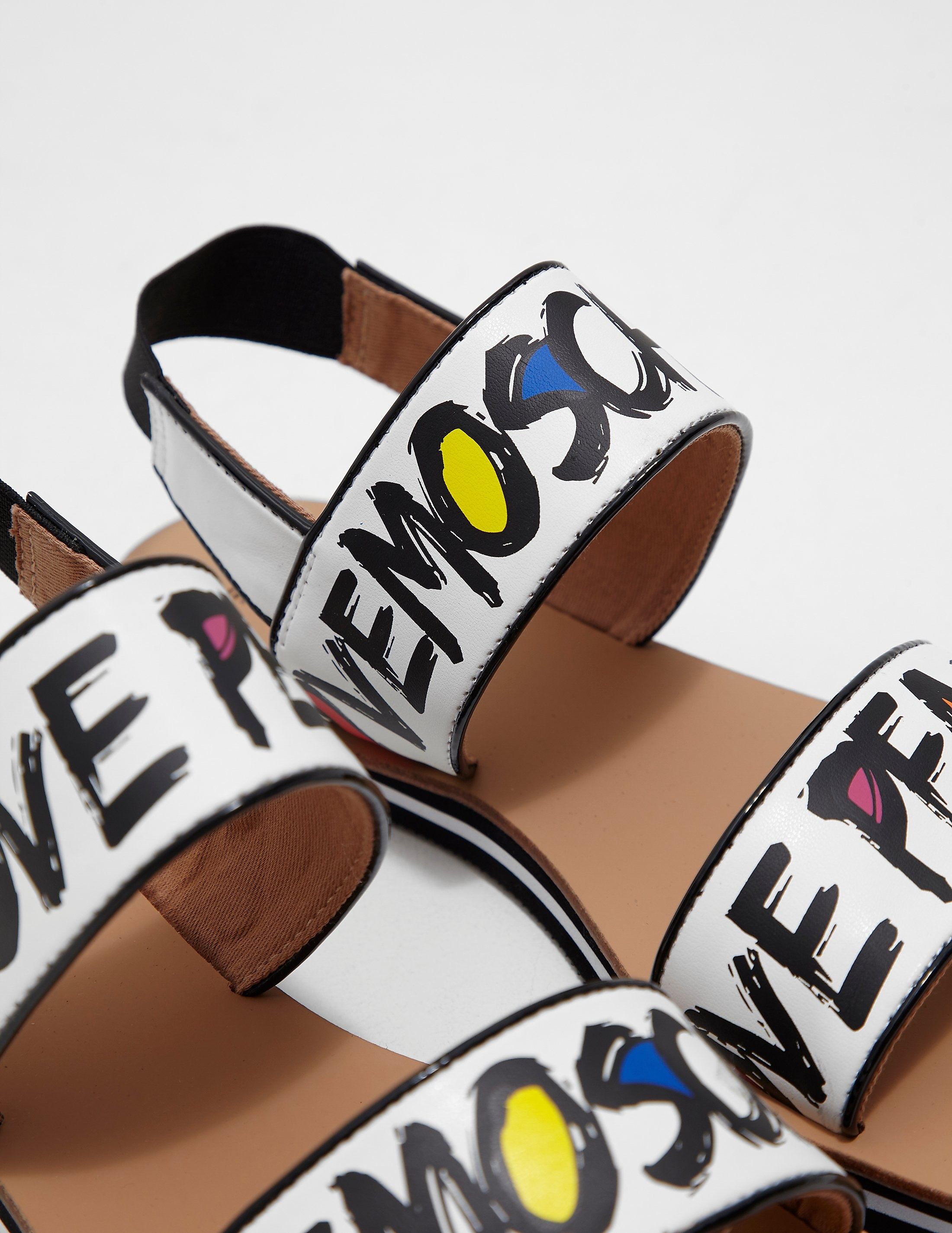 Love Moschino Printed Sandals