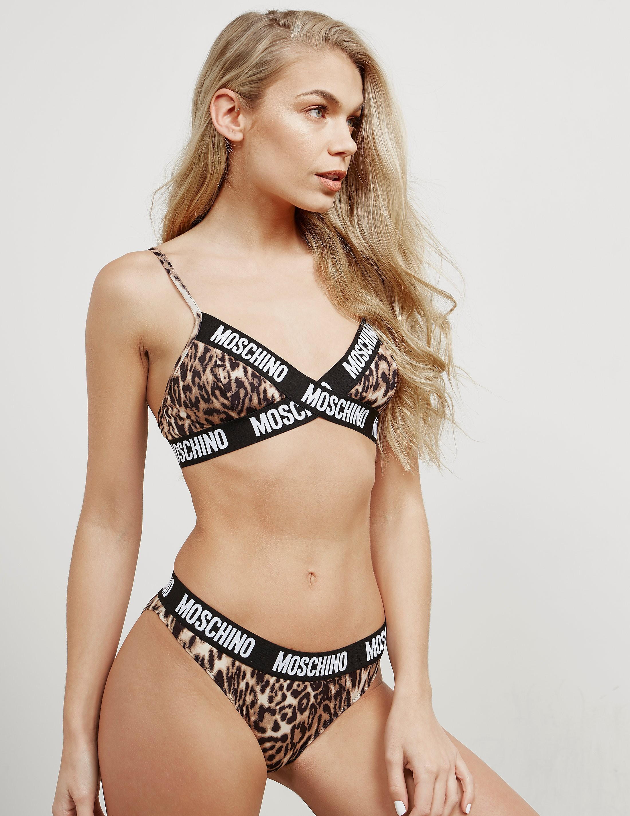 Moschino Triangle Animal Bra
