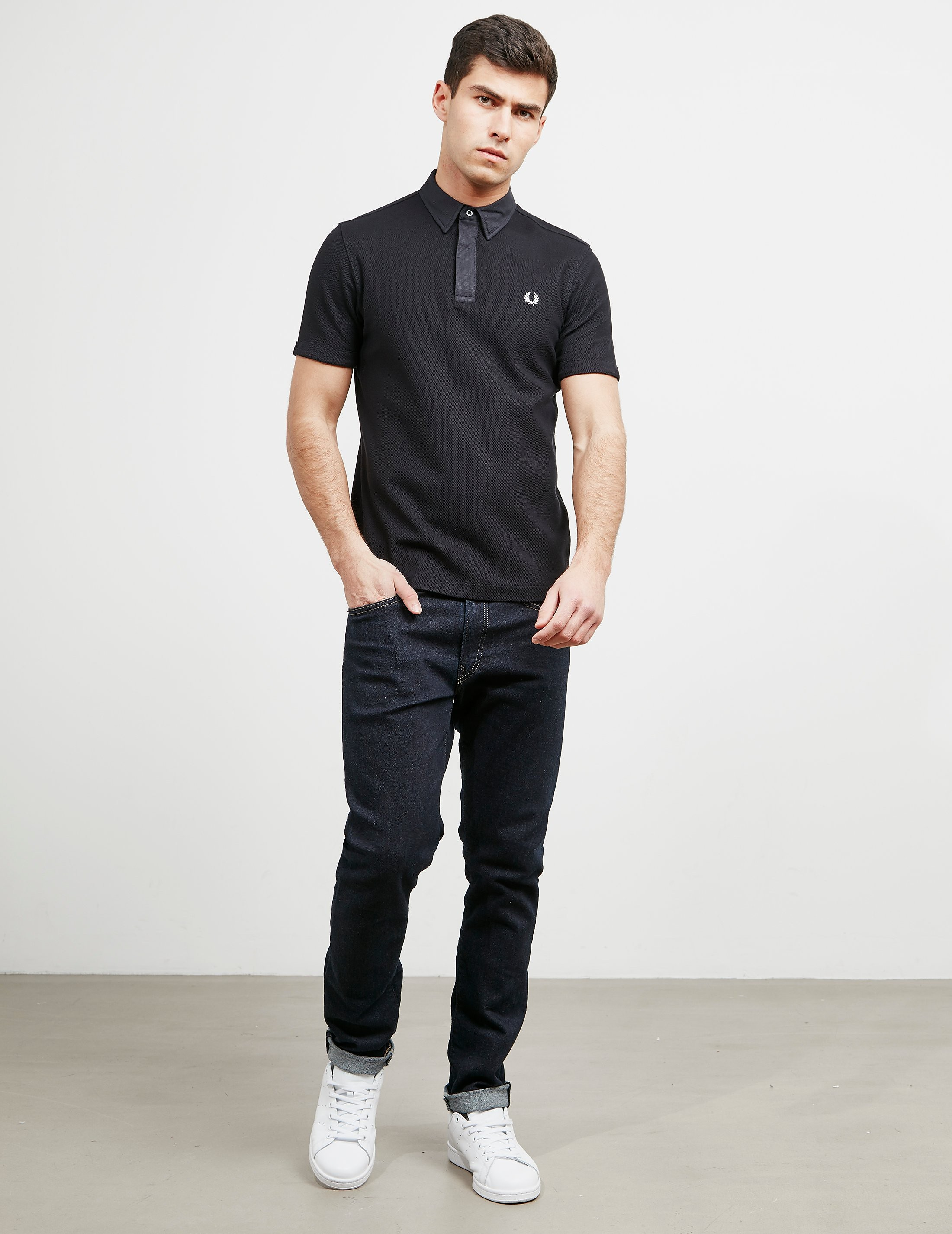 Fred Perry Oxford Waffle Collar Short Sleeve Polo Shirt