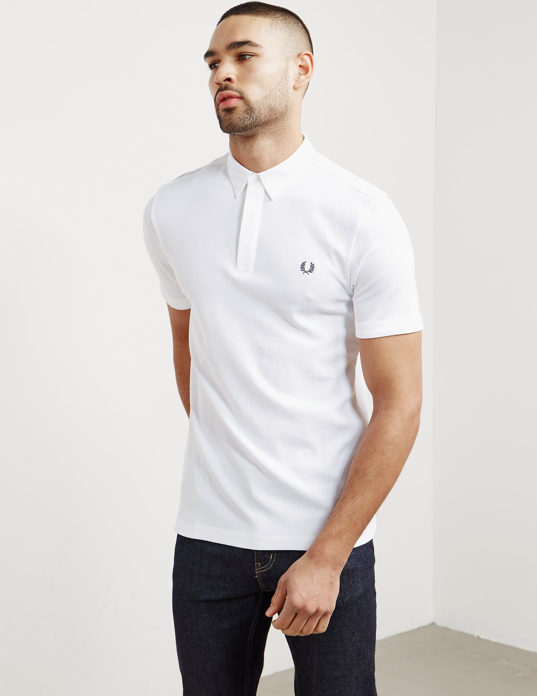 Fred Perry Textured Collar Short Sleeve Polo Shirt