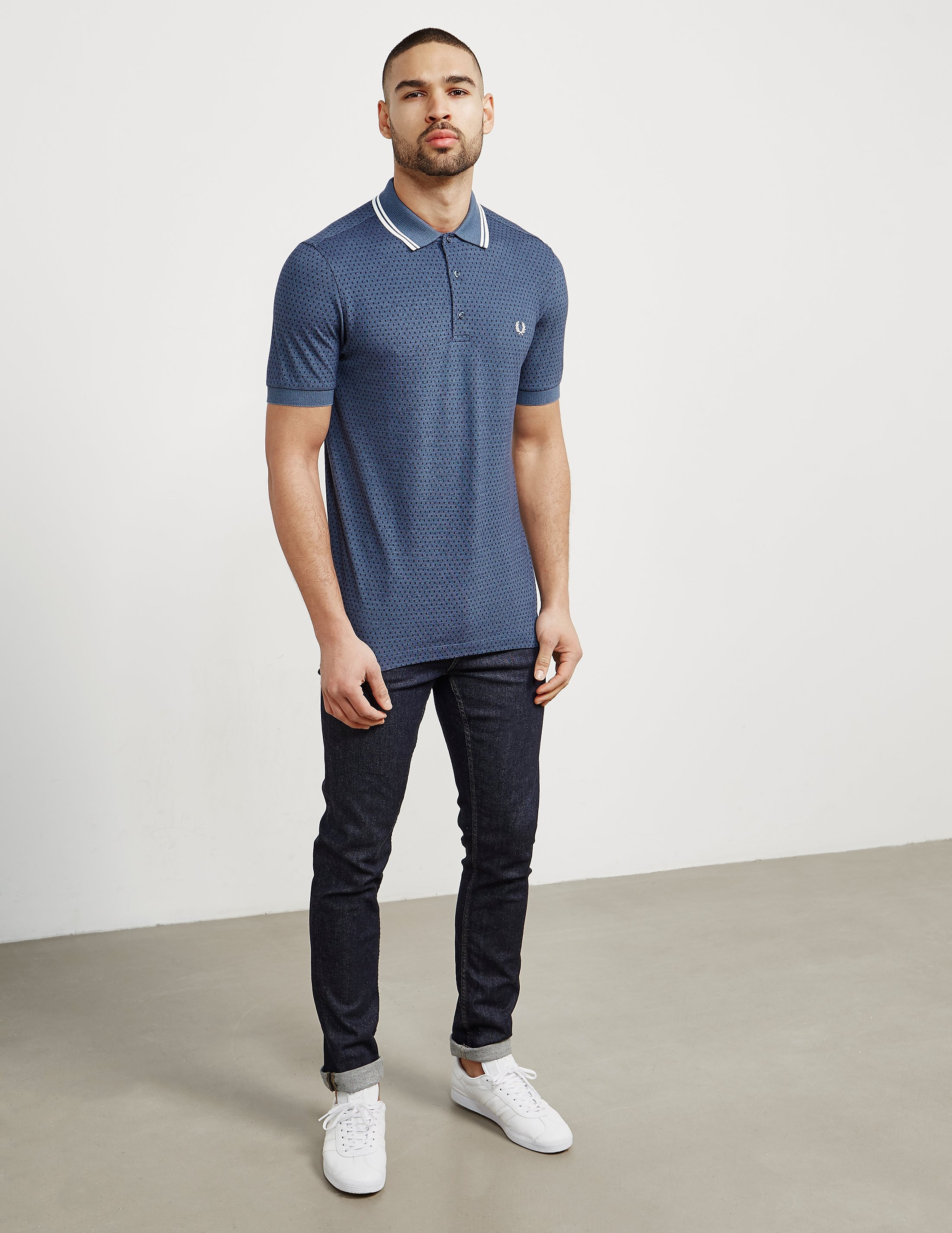 Fred Perry Geo Print Short Sleeve Polo Shirt