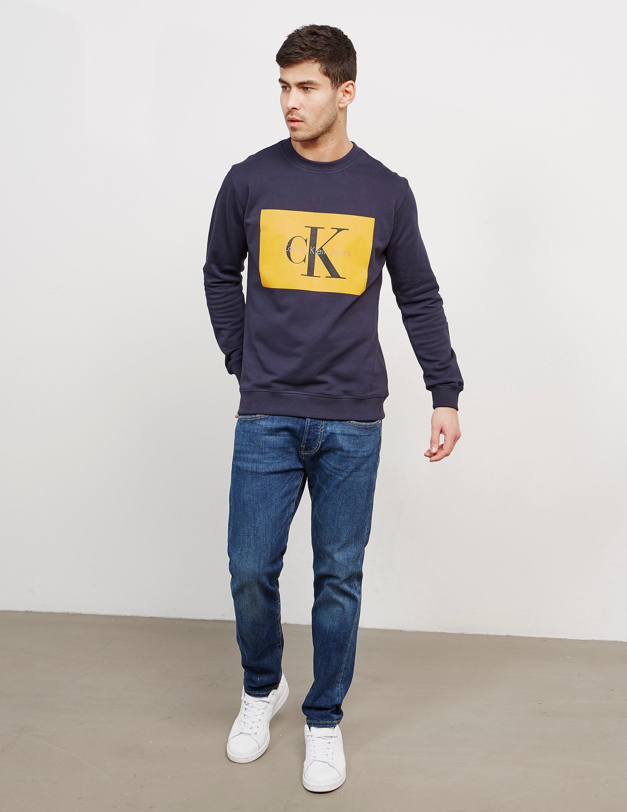 Calvin Klein Box Icon Crew Sweatshirt
