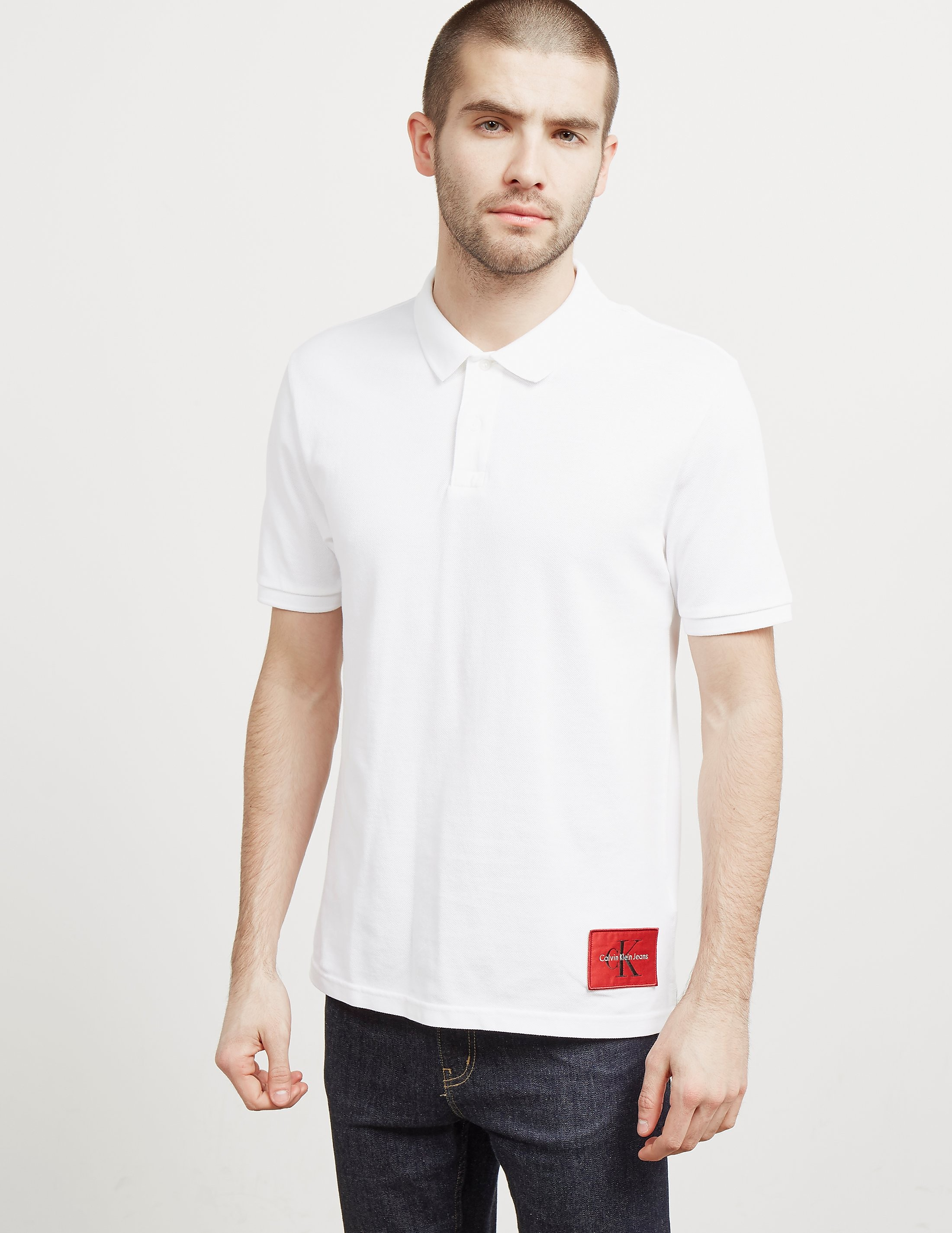 Calvin Klein Hem Patch Short Sleeve Polo Shirt