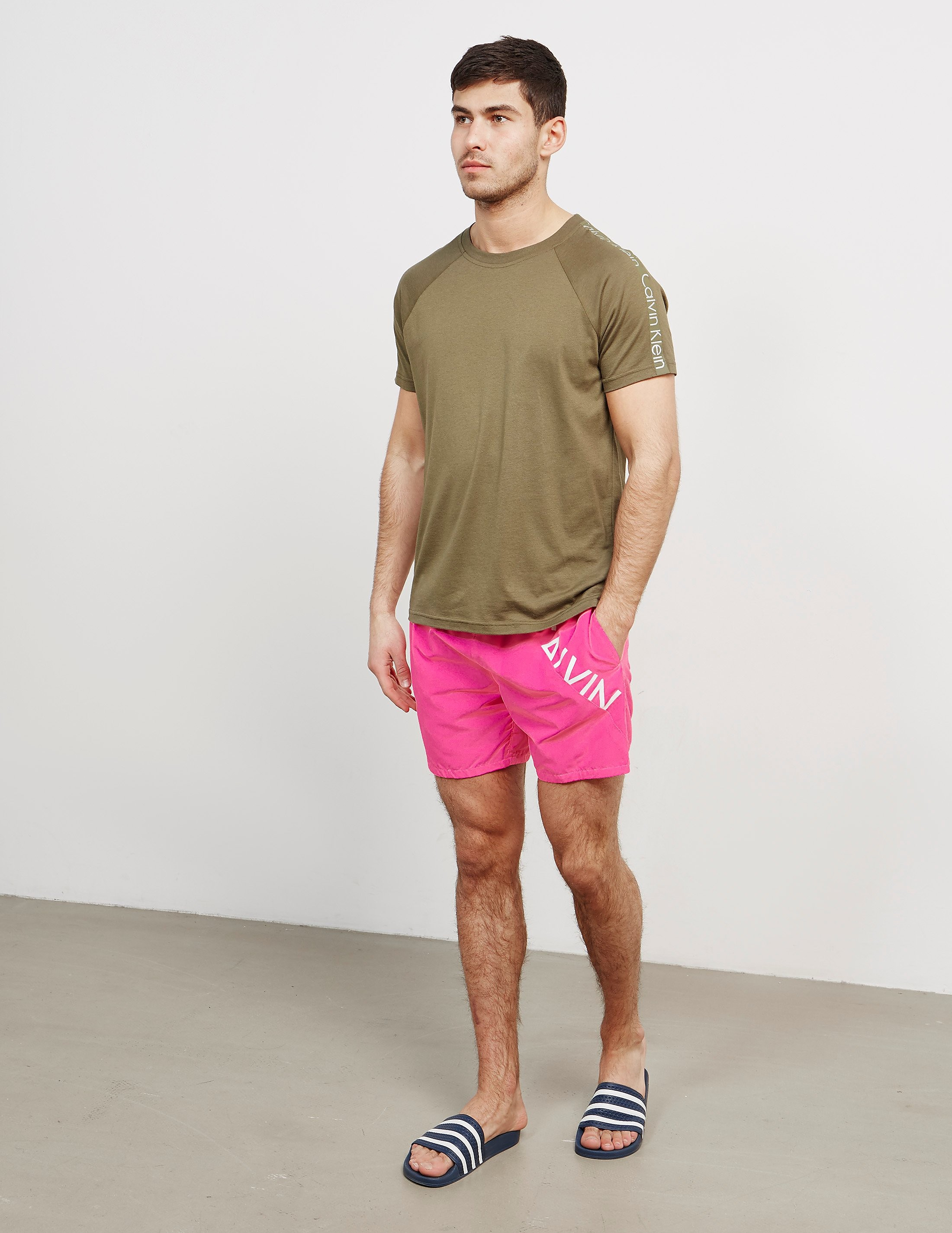 Calvin Klein Angle Branded Swim Shorts