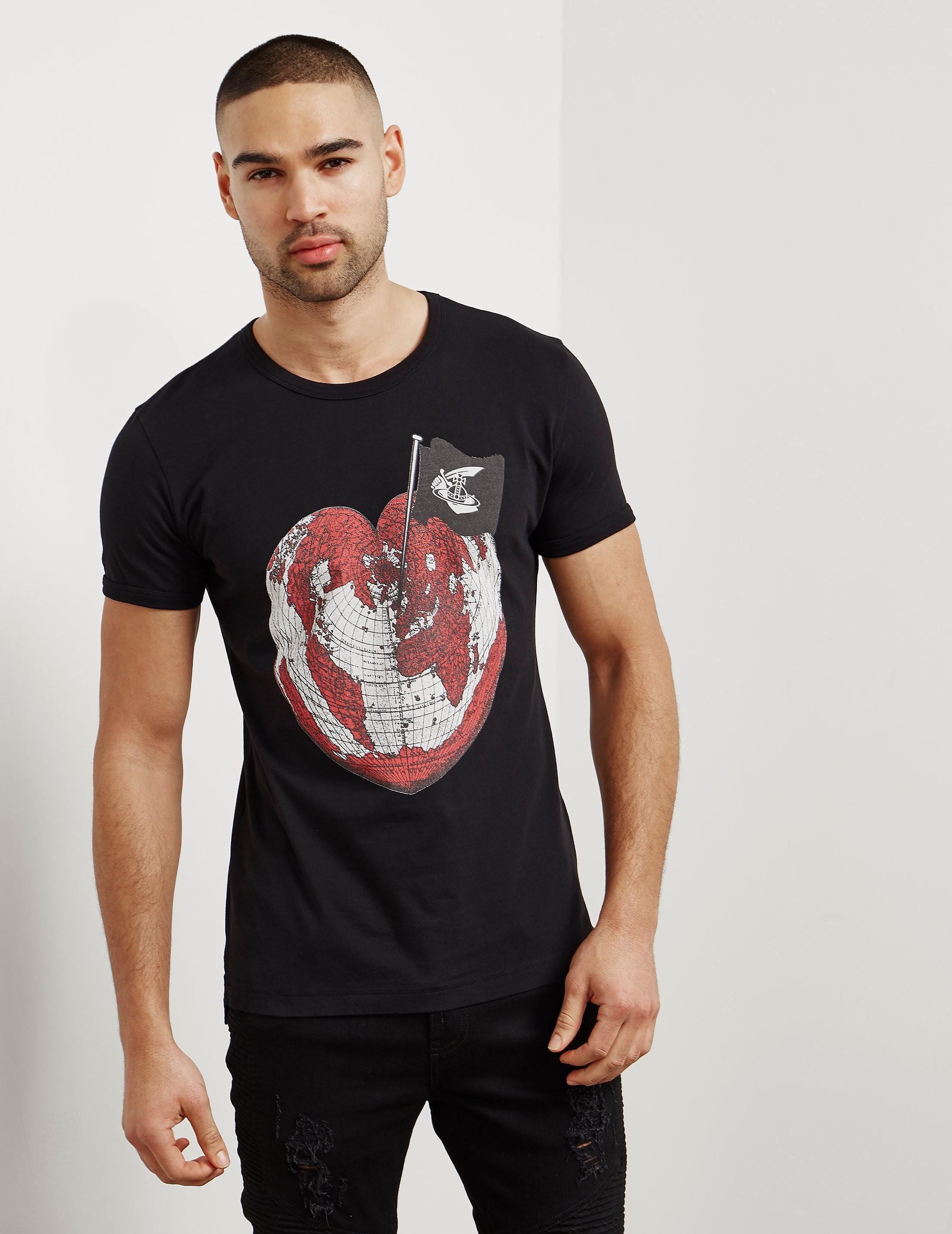 Vivienne Westwood Anglomania World Short Sleeve T-Shirt