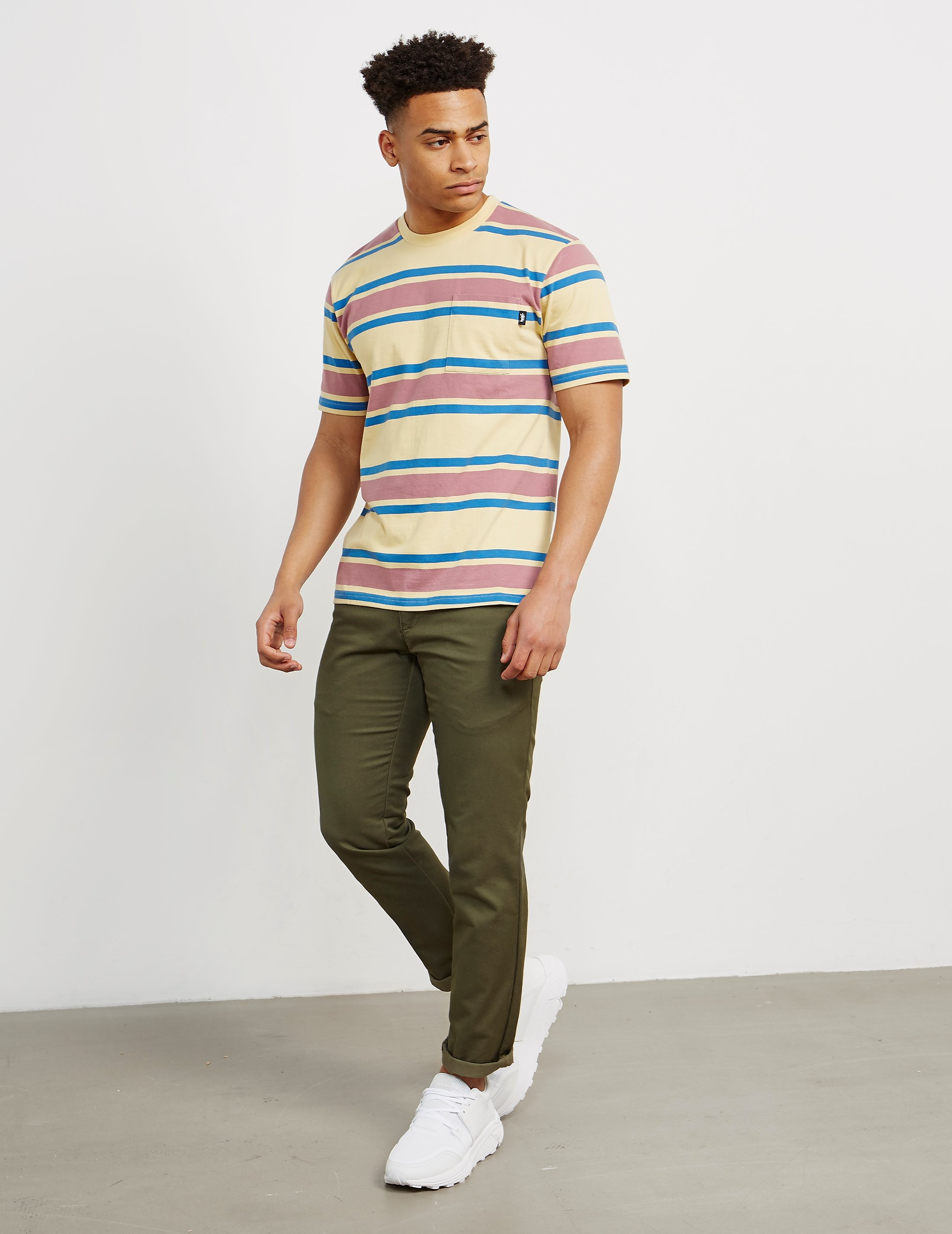 Stussy Bold Stripe Short Sleeve T-Shirt