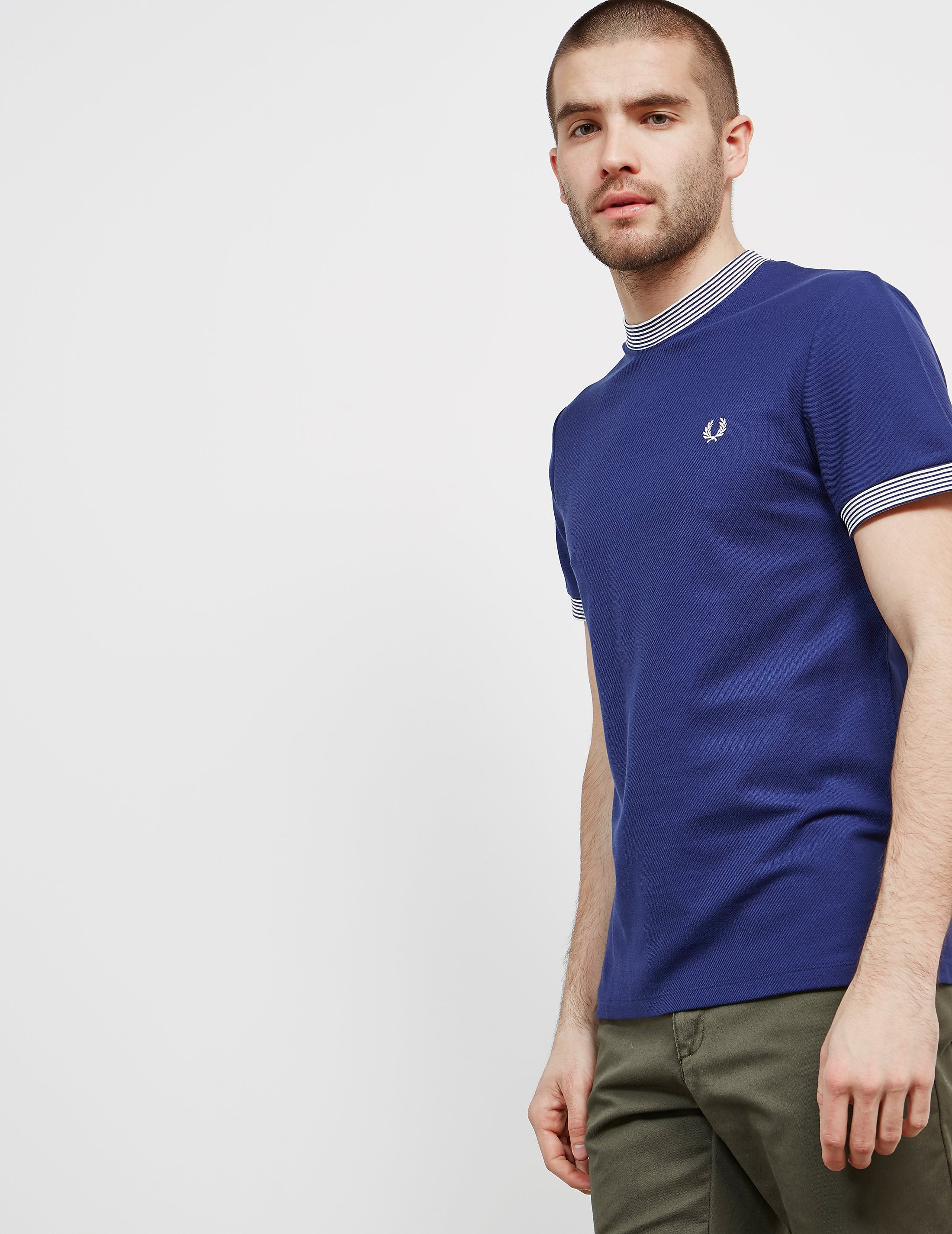 Fred Perry Pique Neck Stripe Short Sleeve T-Shirt