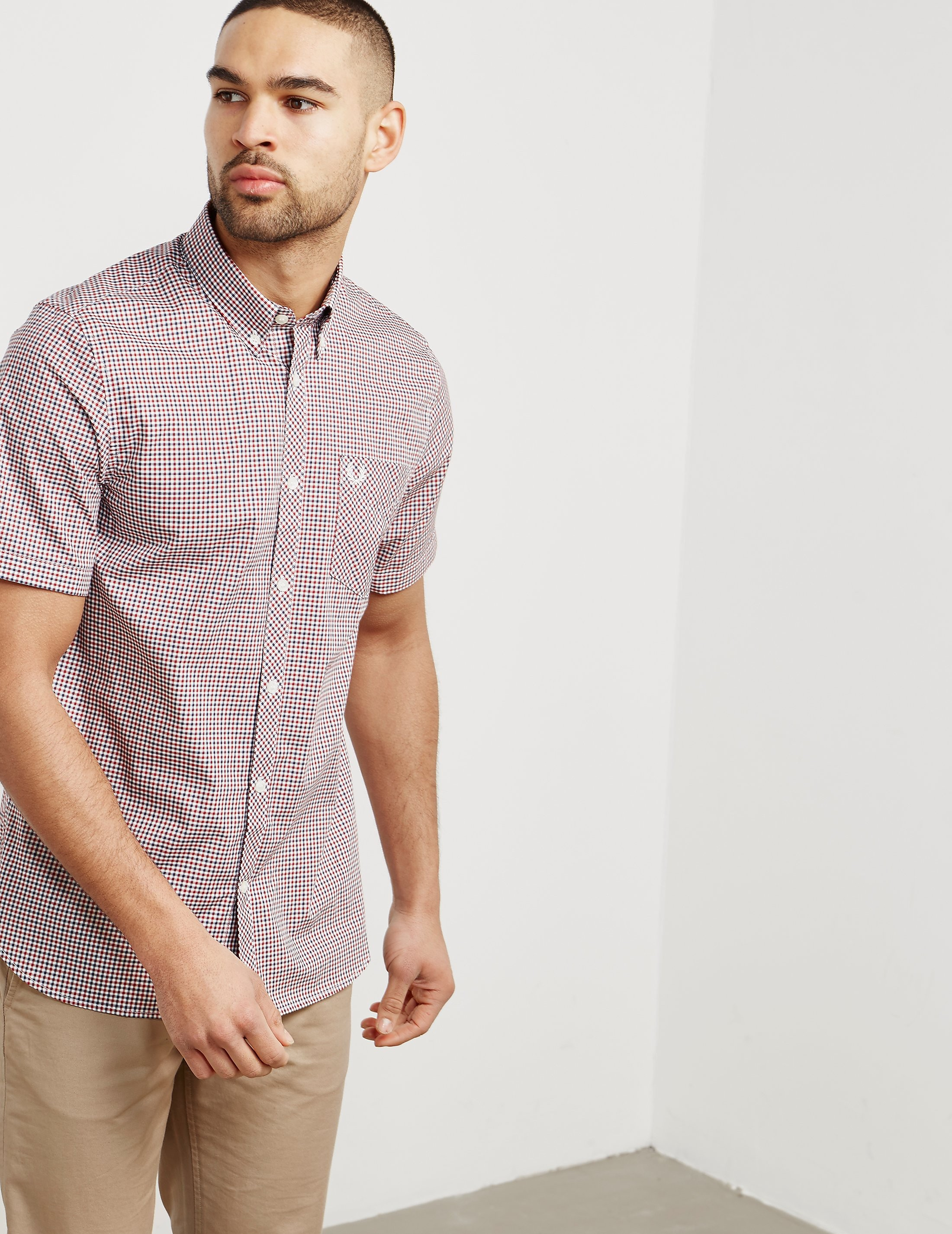 Fred Perry Three Colour Gingham Short Sleeve Shirt