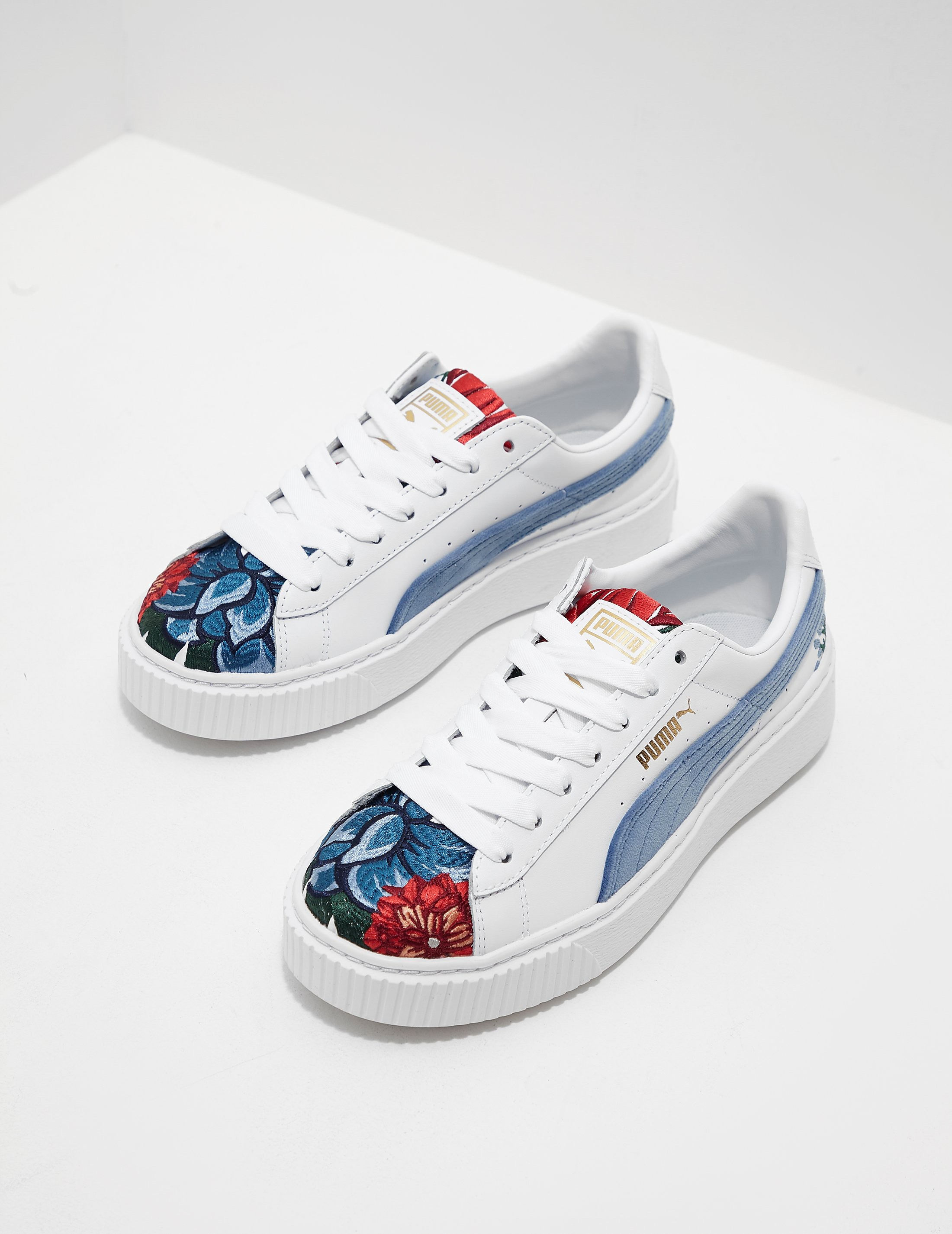 PUMA Embroidered Platform Suede