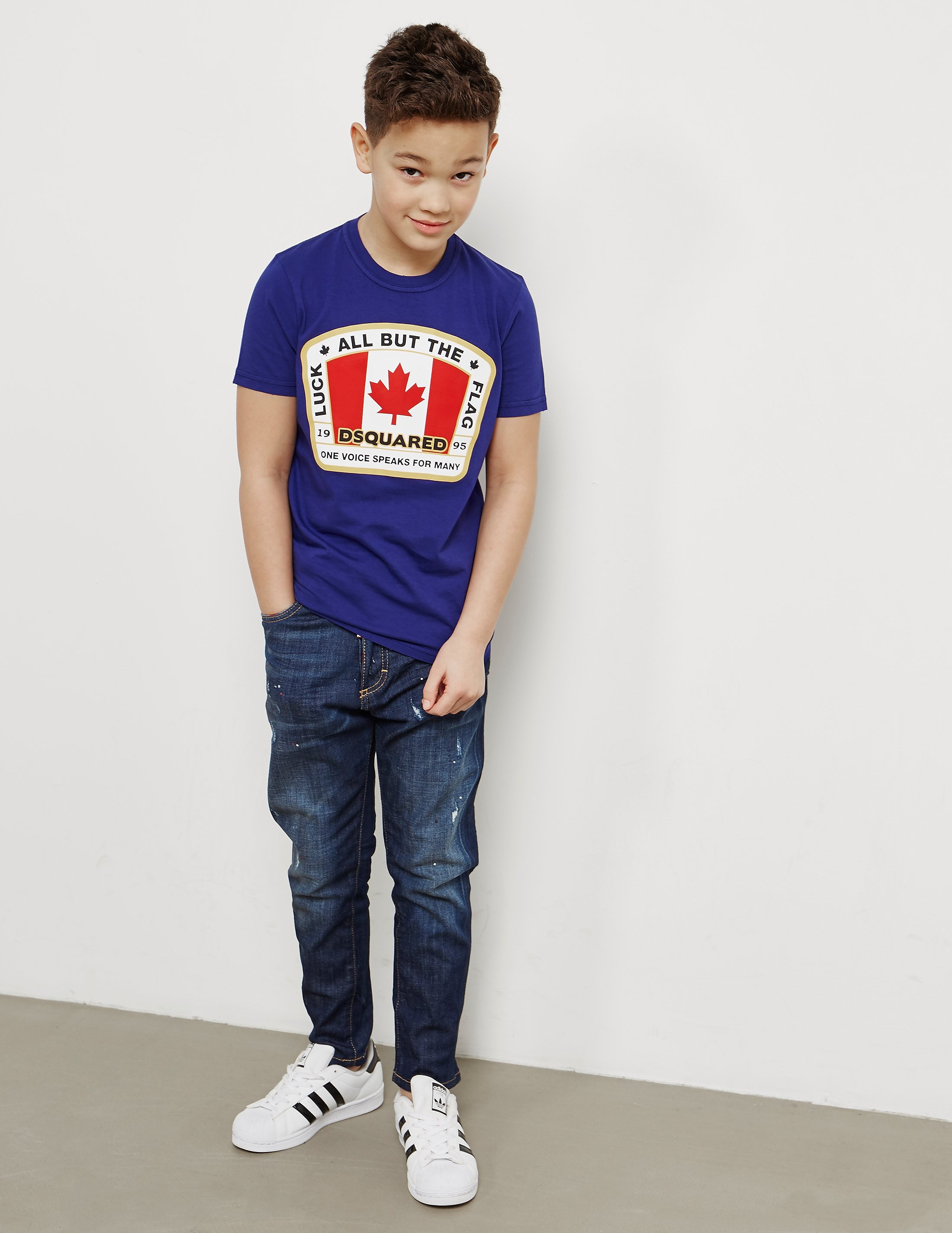 DSQUARED2 Flag Short Sleeve T-Shirt