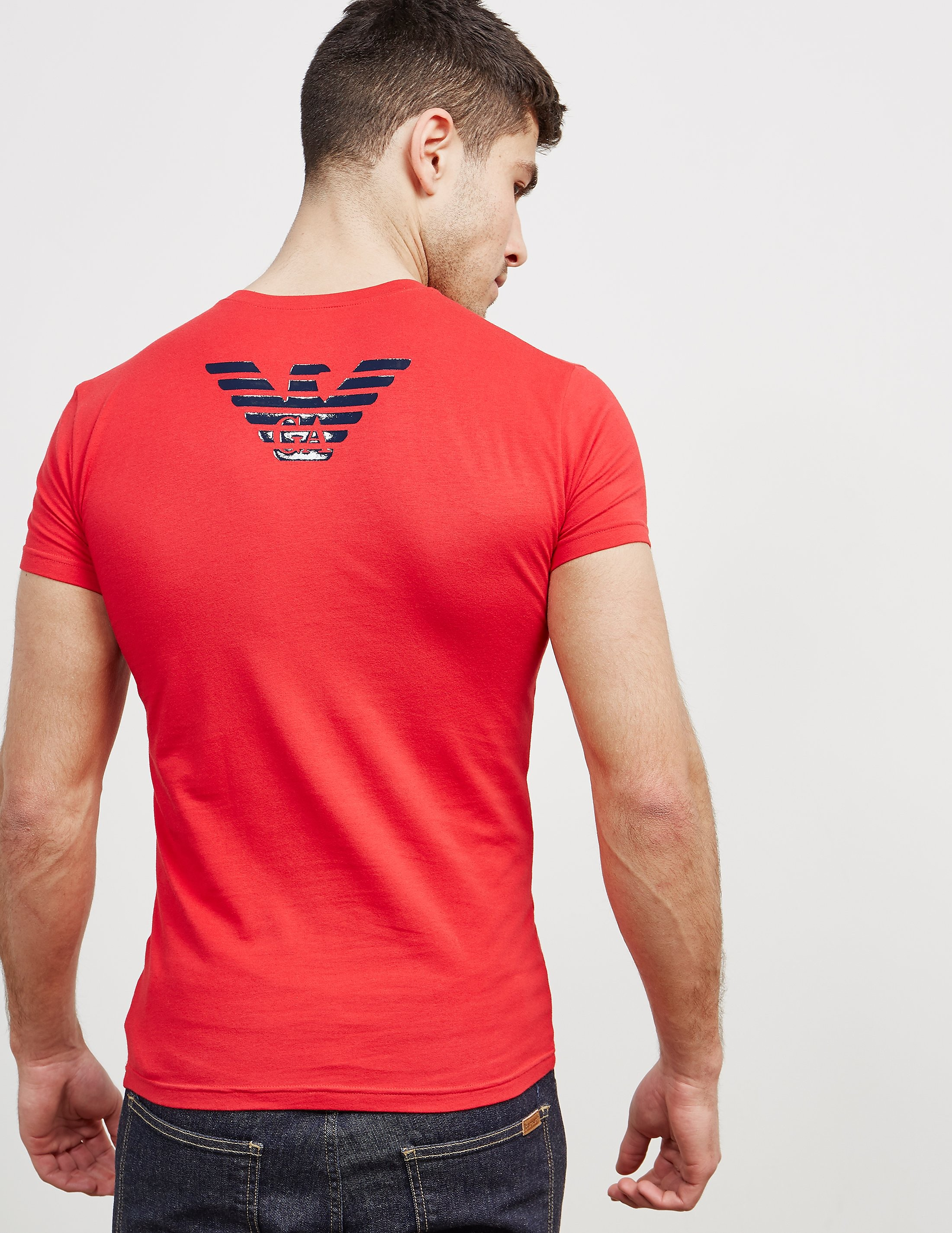 Emporio Armani Shiny Eagle Back Short Sleeve T-Shirt