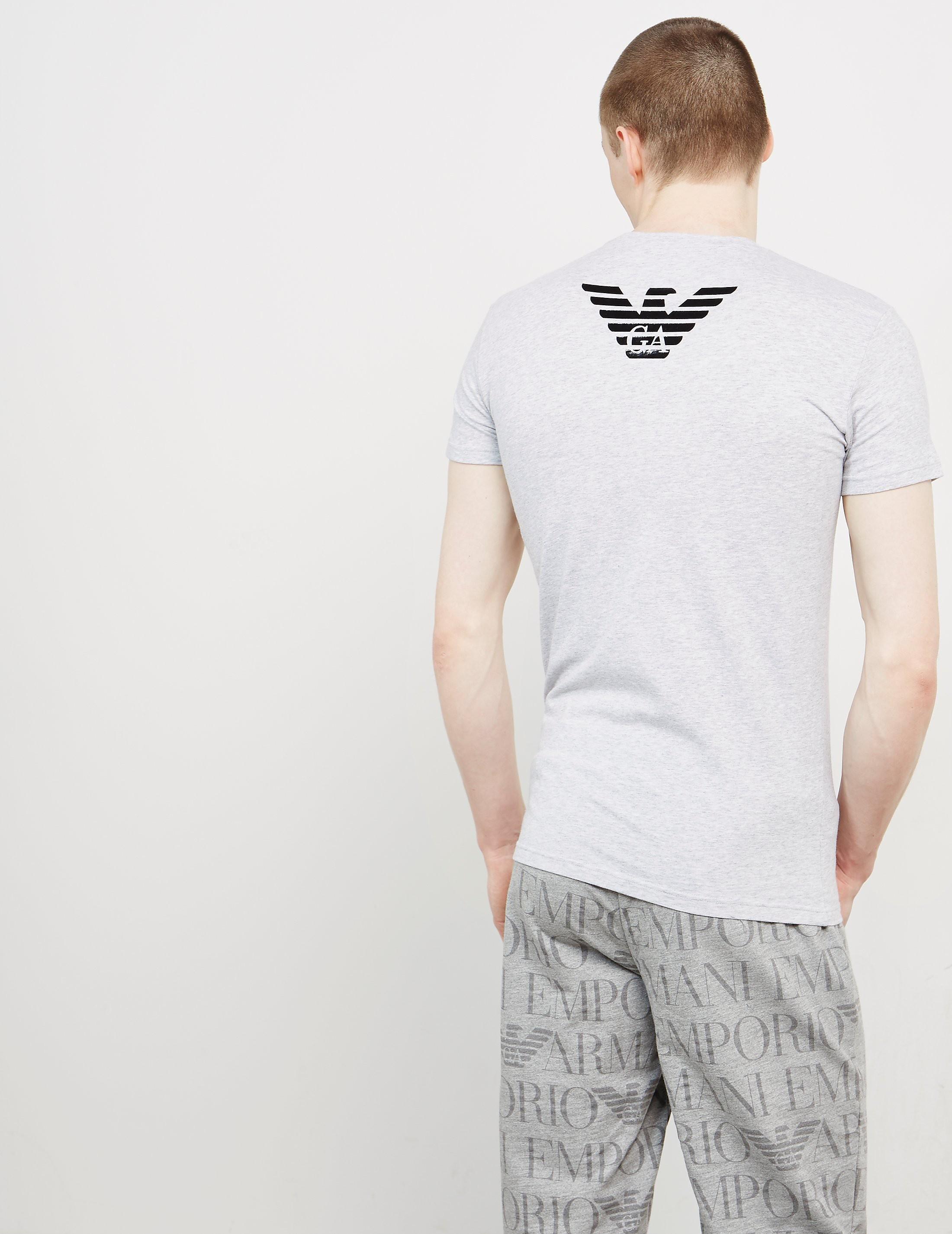 Emporio Armani Shiny Eagle Back Short Sleeve T-Shirt