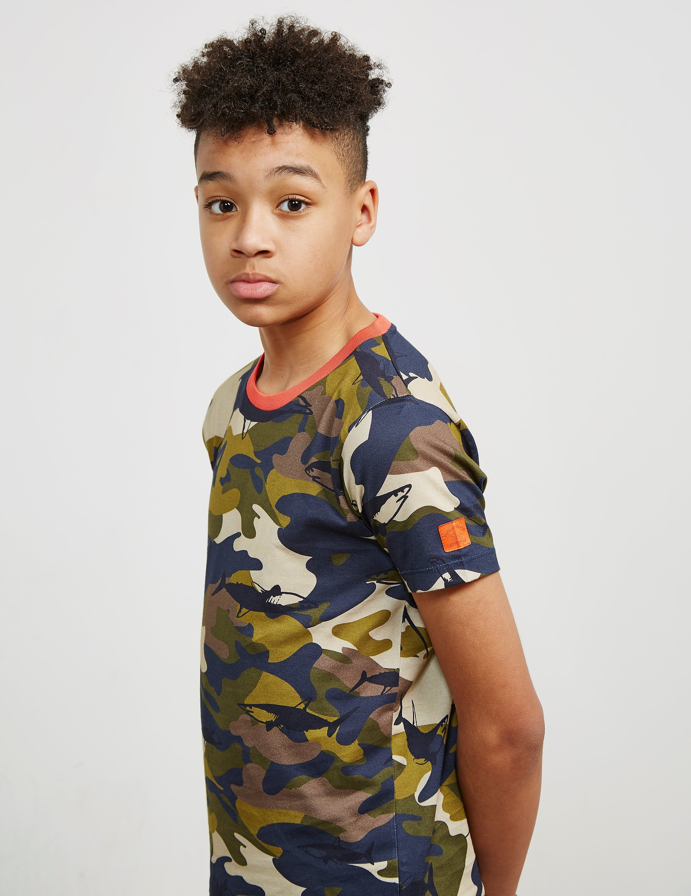 Paul and Shark Camo Short Sleeve T-Shirt