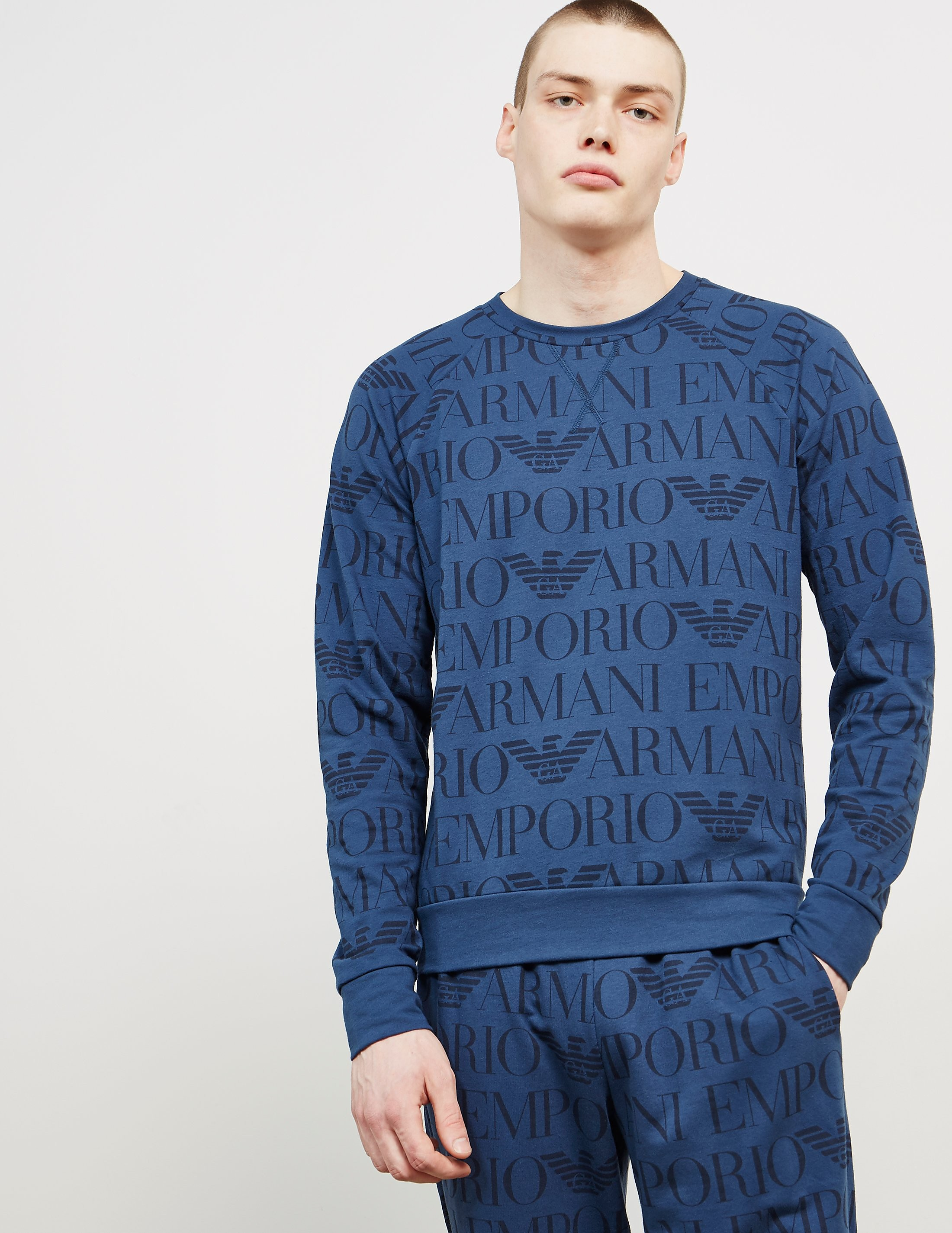 Emporio Armani All Over Print Sweatshirt