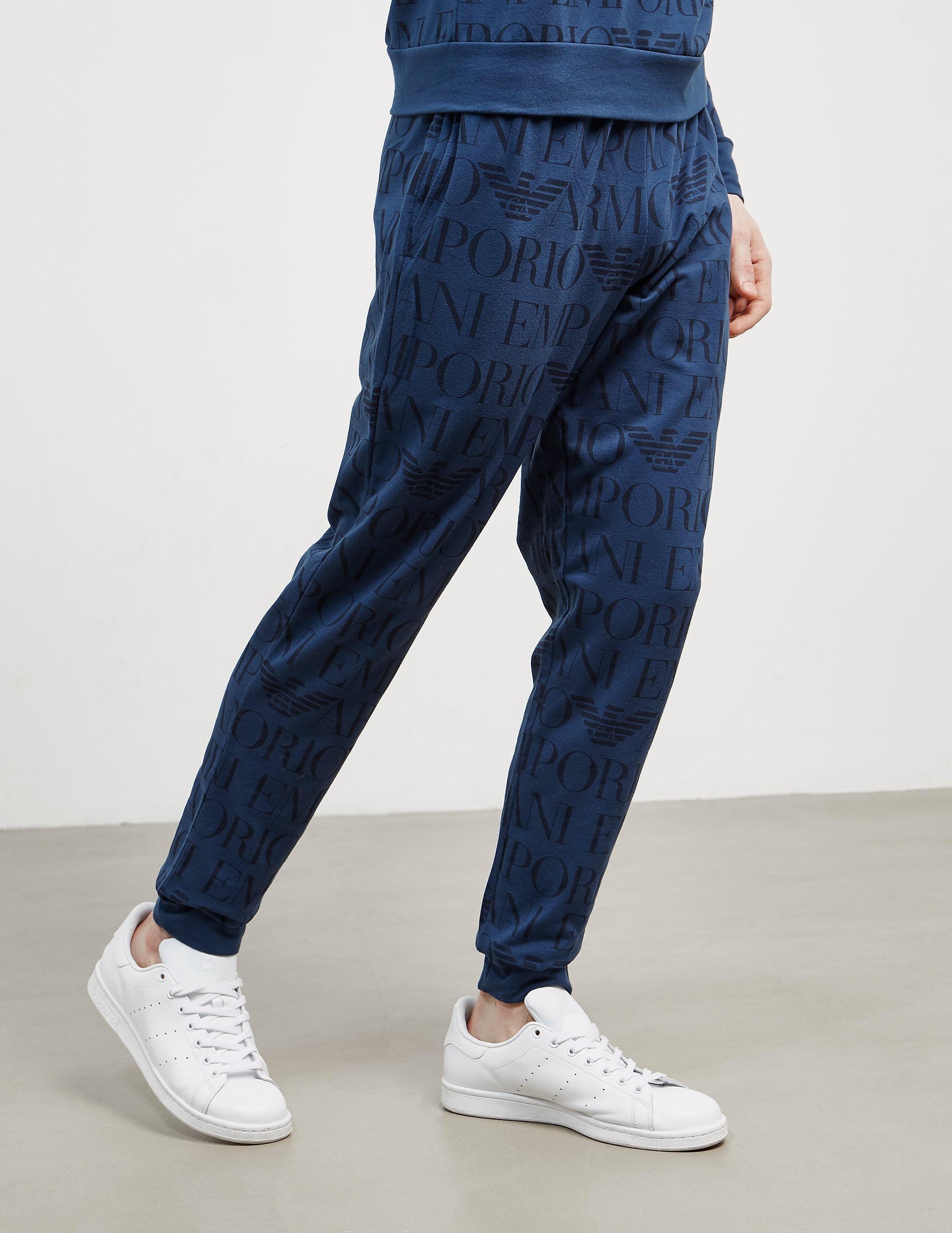 Emporio Armani All Over Print Track Pants