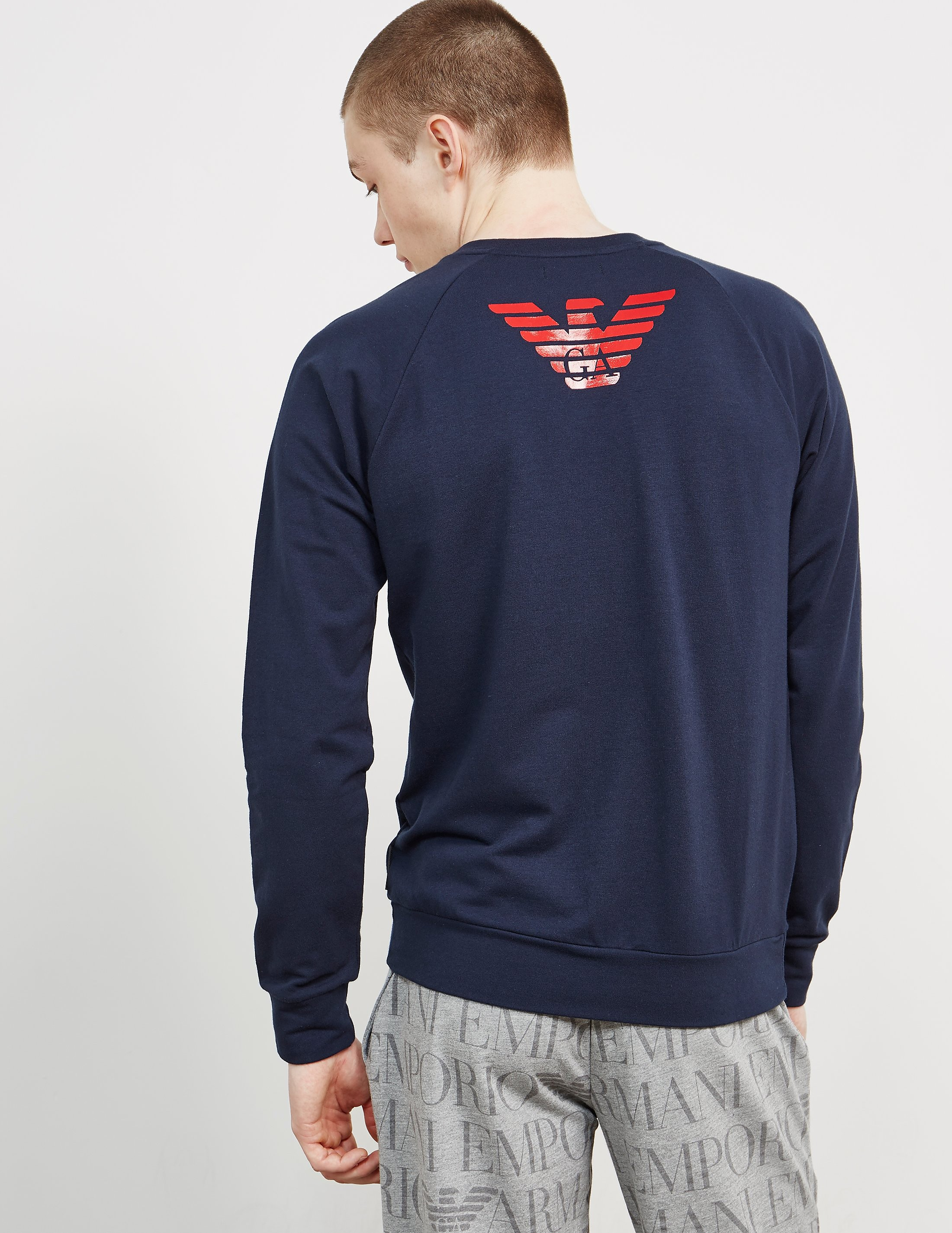 Emporio Armani Shiny Back Eagle Sweatshirt