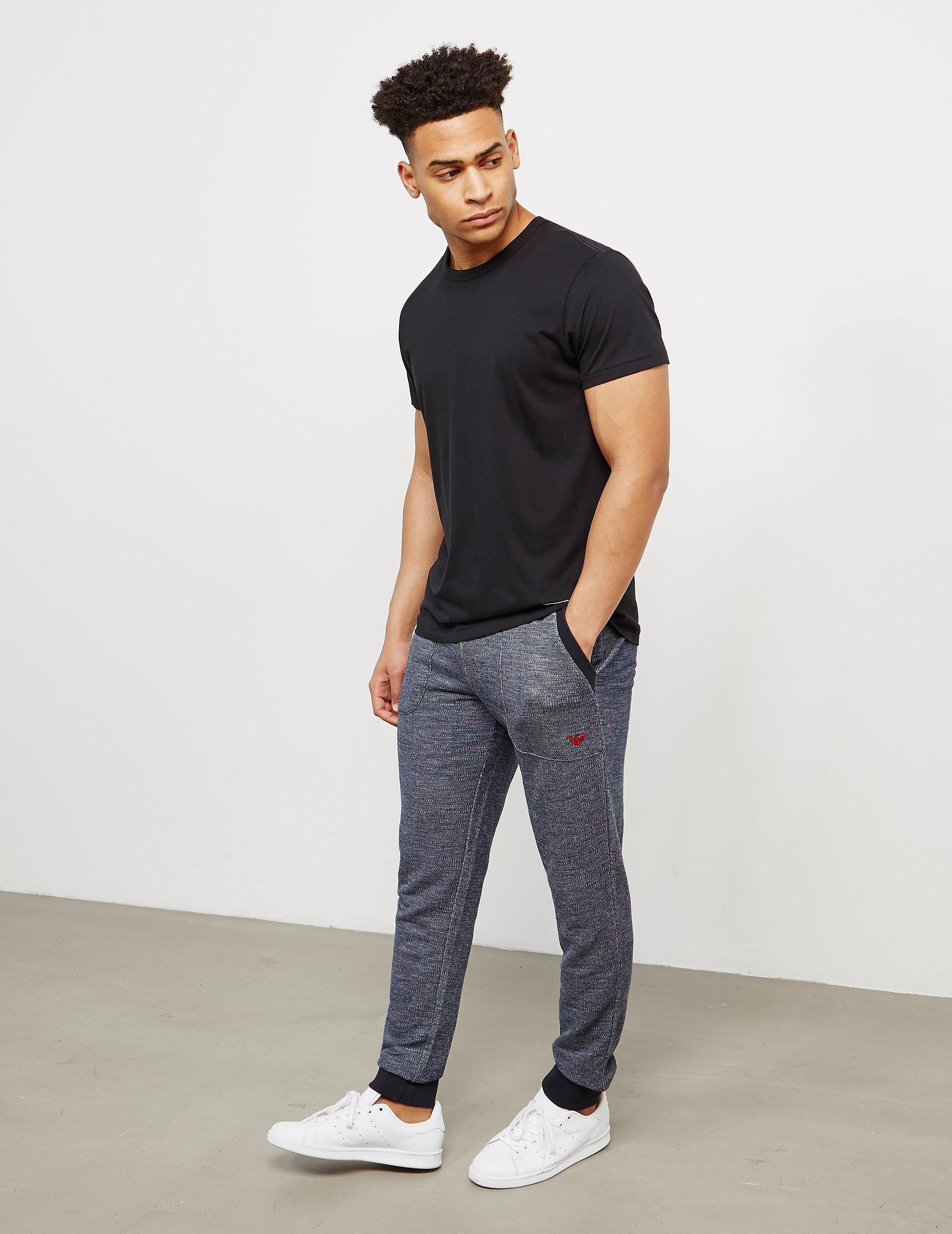 Emporio Armani Cuffed Marl Fleece Pants