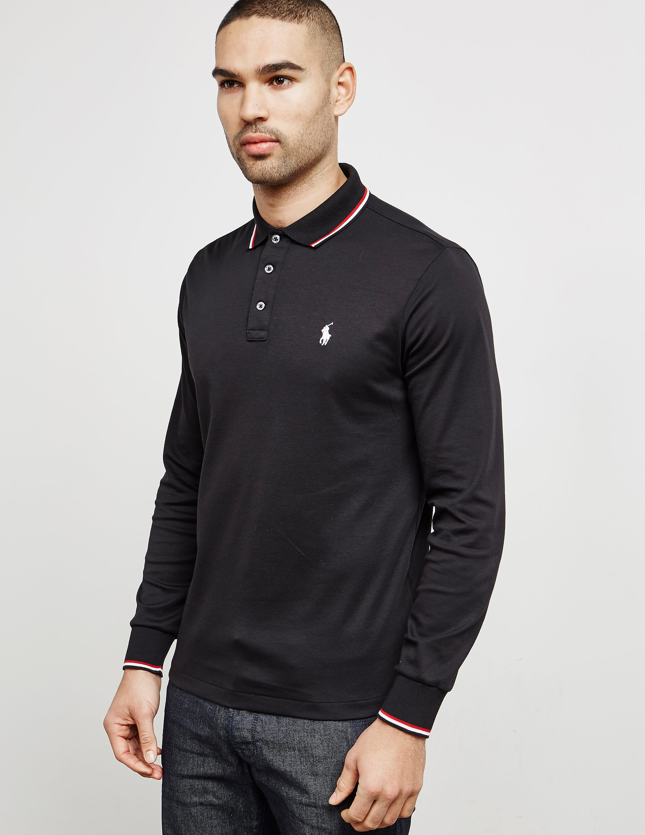 Polo Ralph Lauren Tipped Long Sleeve Polo Shirt