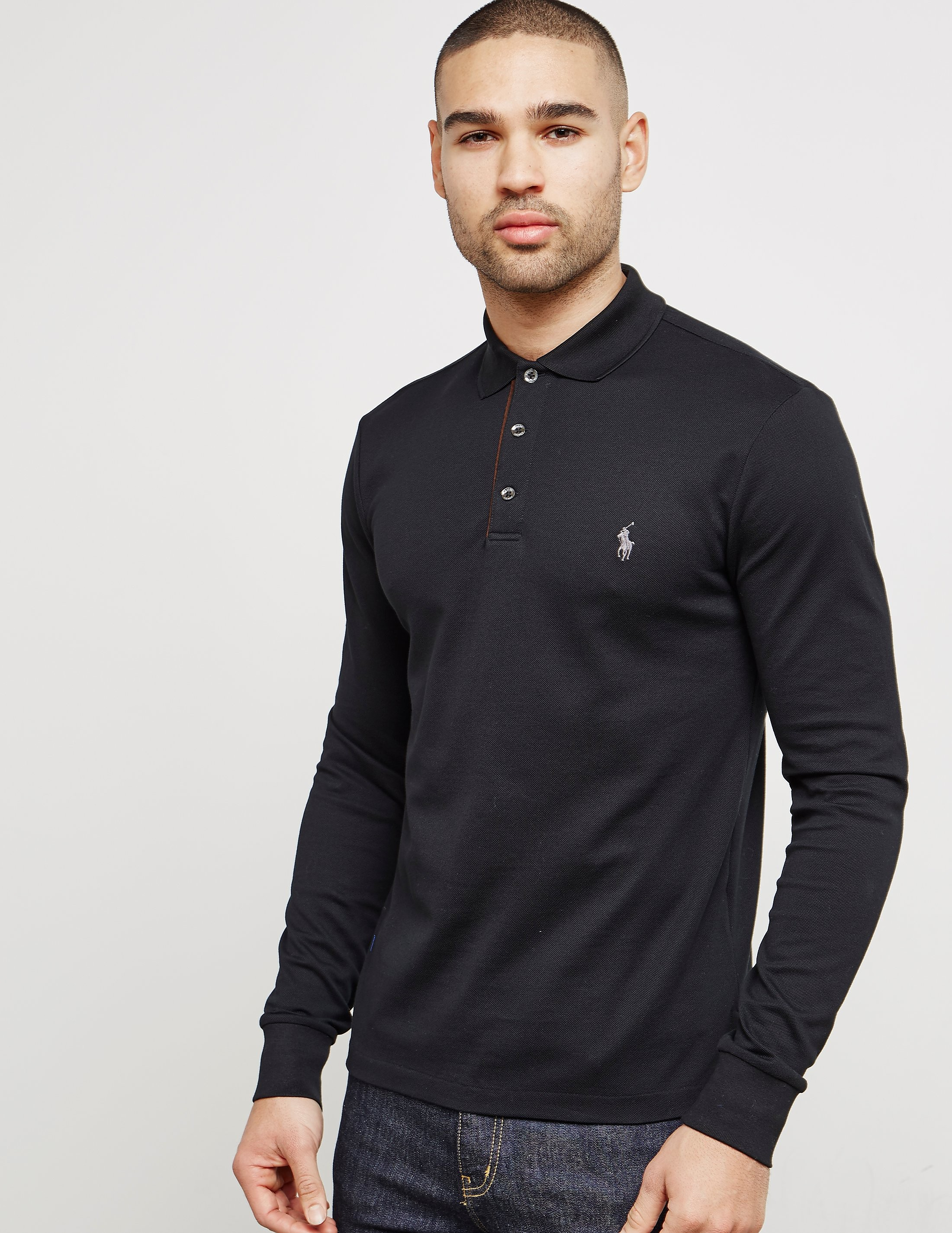 Polo Ralph Lauren Mesh Long Sleeve Polo Shirt