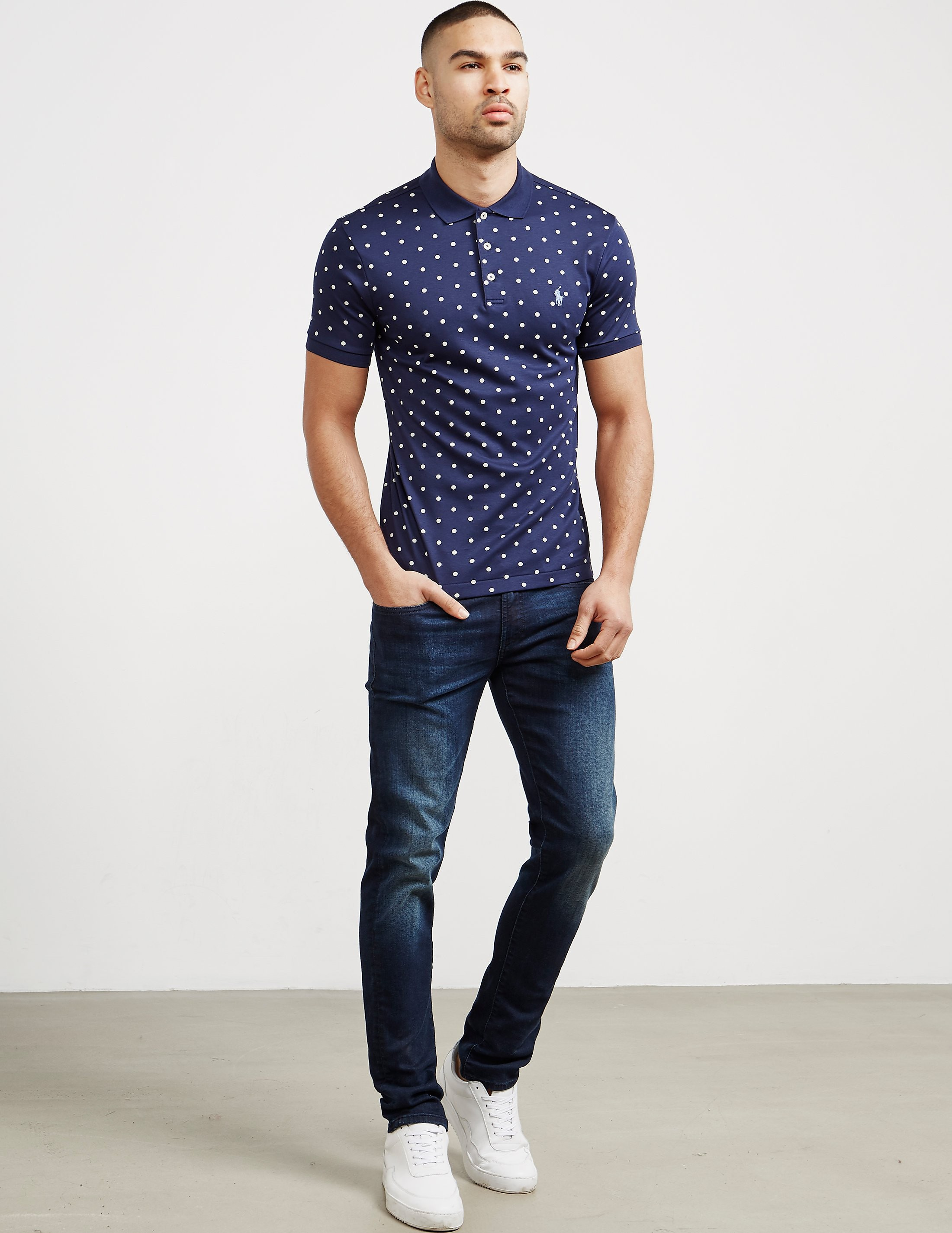 Polo Ralph Lauren Polka Dot Short Sleeve Polo Shirt