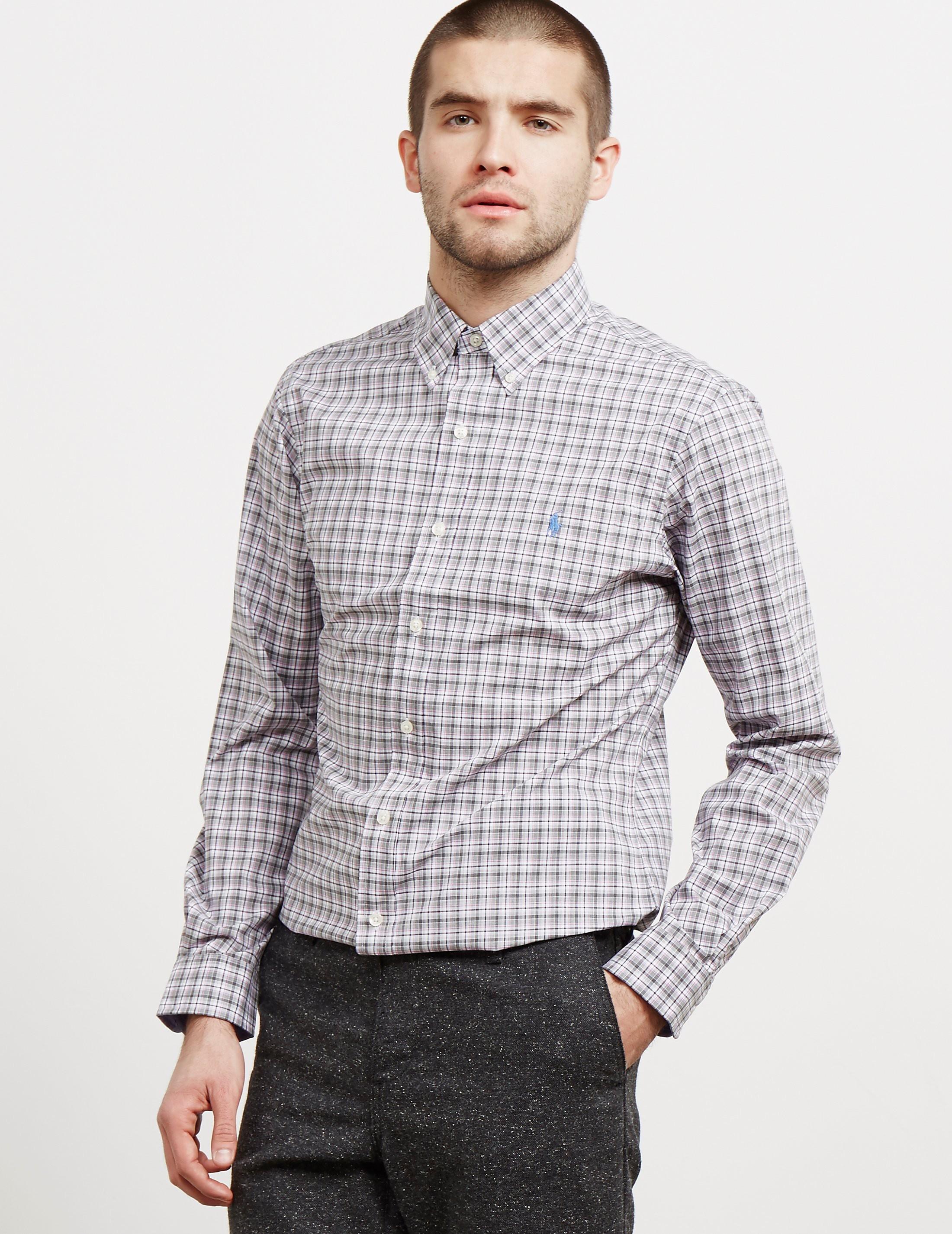 Polo Ralph Lauren Poplin Check Long Sleeve Shirt