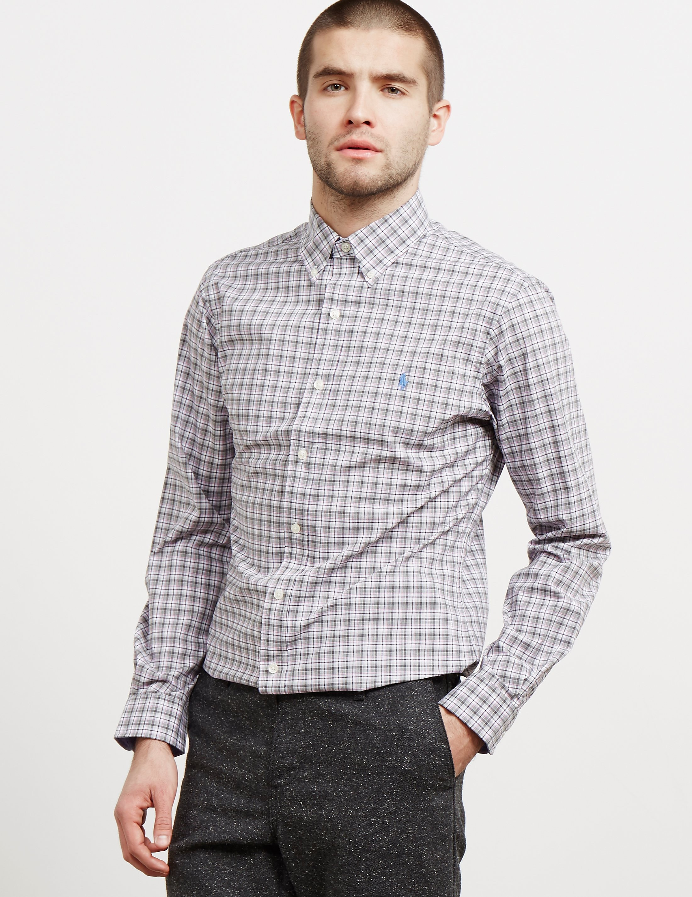 Polo Ralph Lauren Poplin Check Long Sleeve Shirt