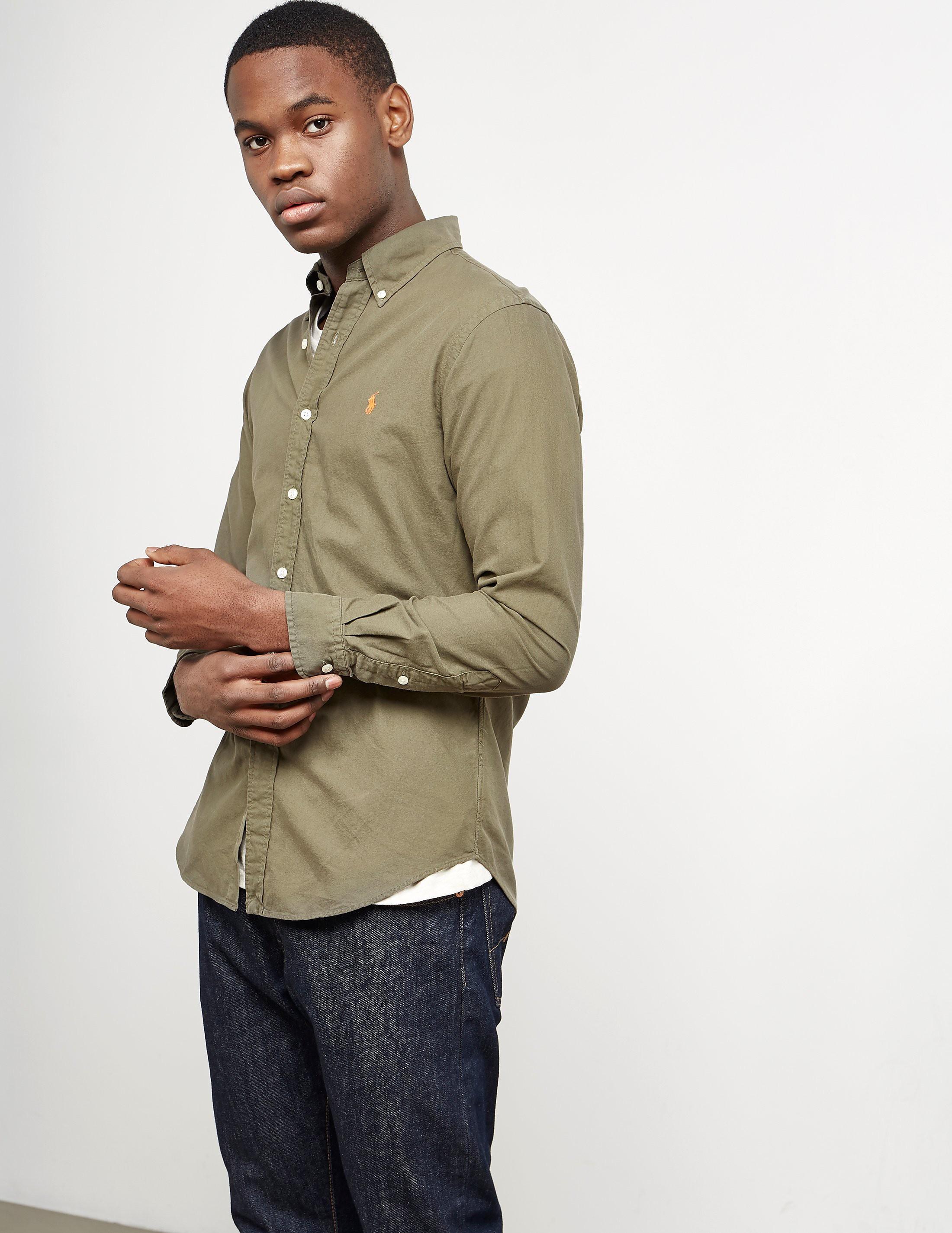 Polo Ralph Lauren Garment Dyed Long Sleeve Oxford Shirt