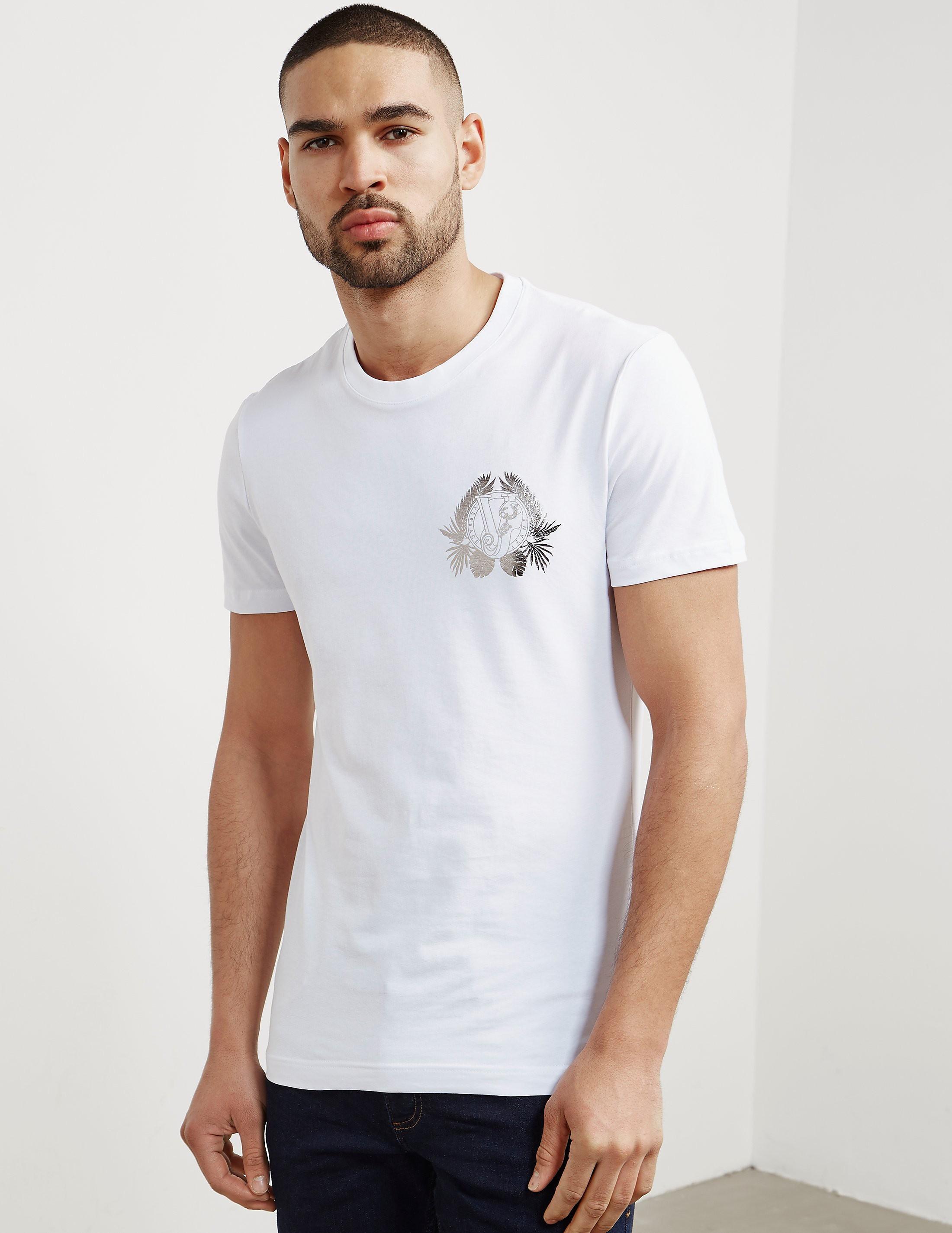 Versace Foil Leaf Short Sleeve T-Shirt