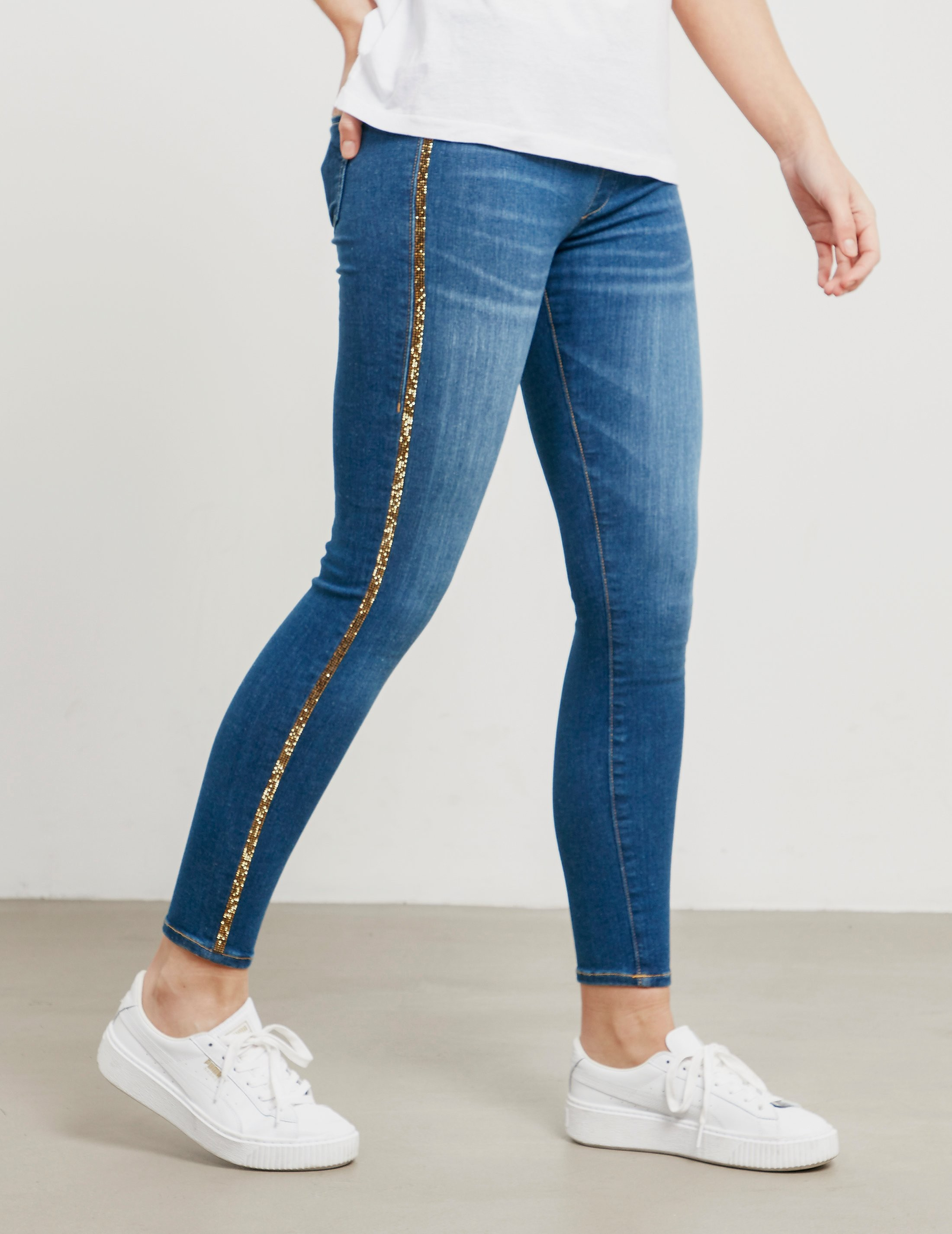 True Religion Rhinestone Skinny Runway Leggings