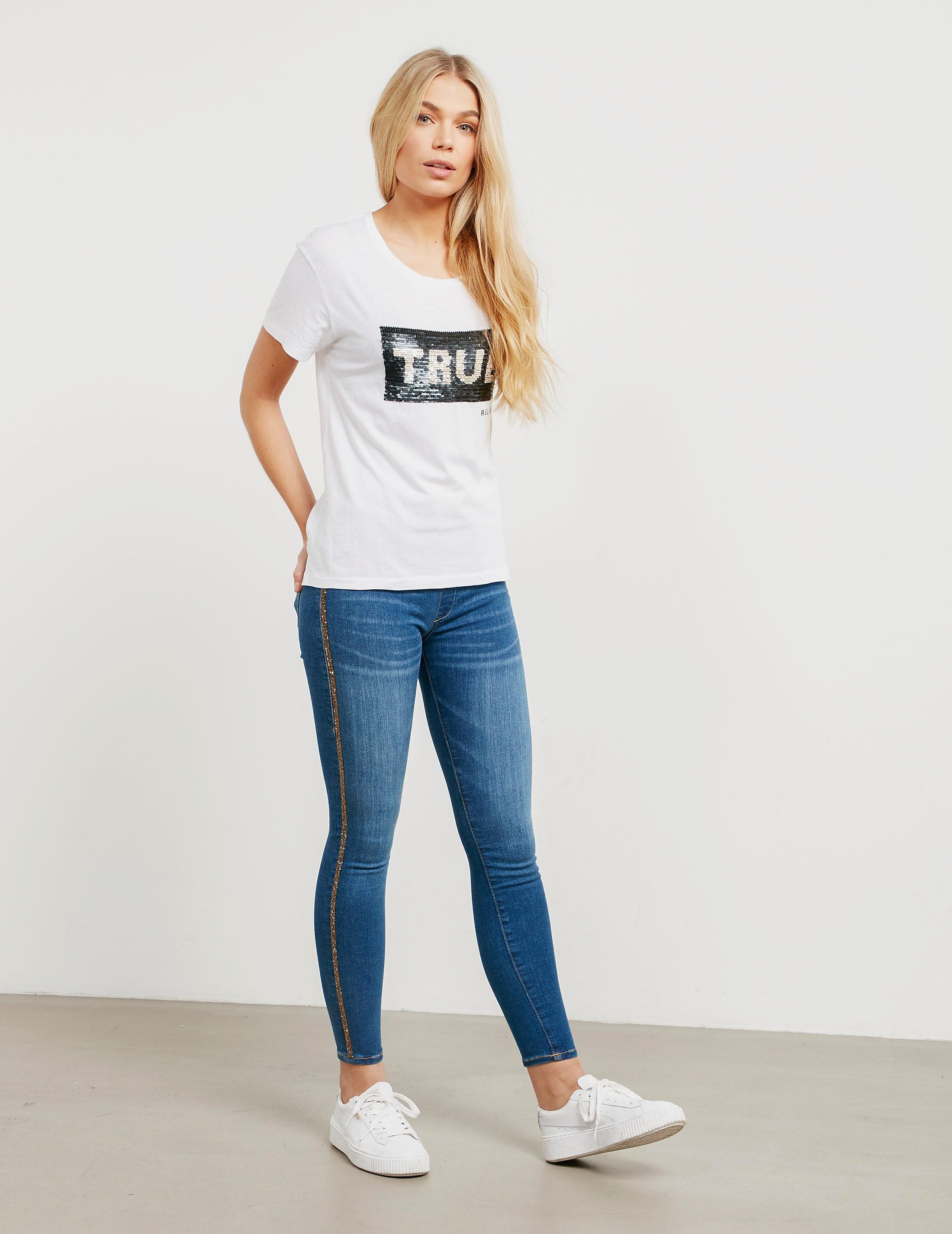 True Religion Rhinestone Skinny Jeans Leggings