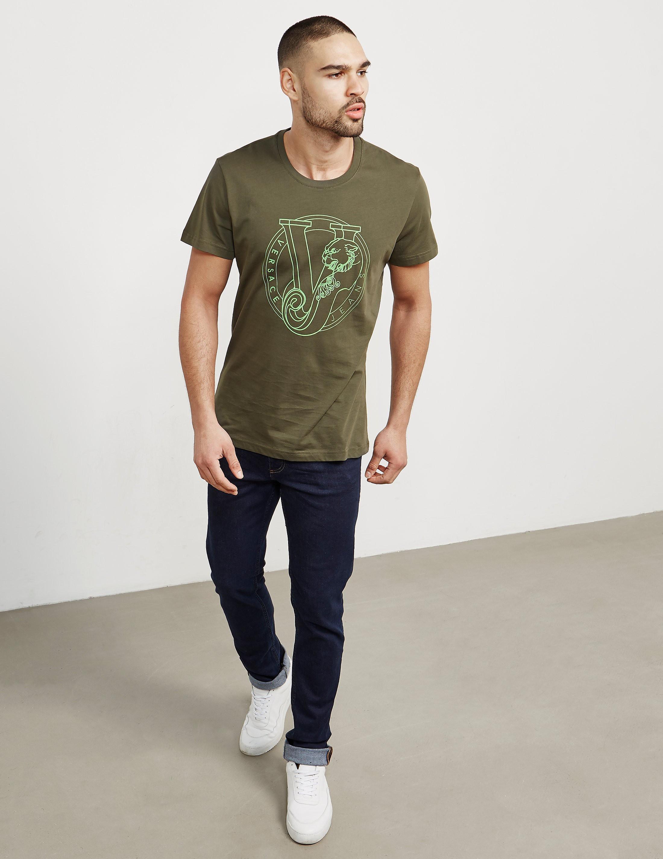 Versace Round Logo Short Sleeve T-Shirt