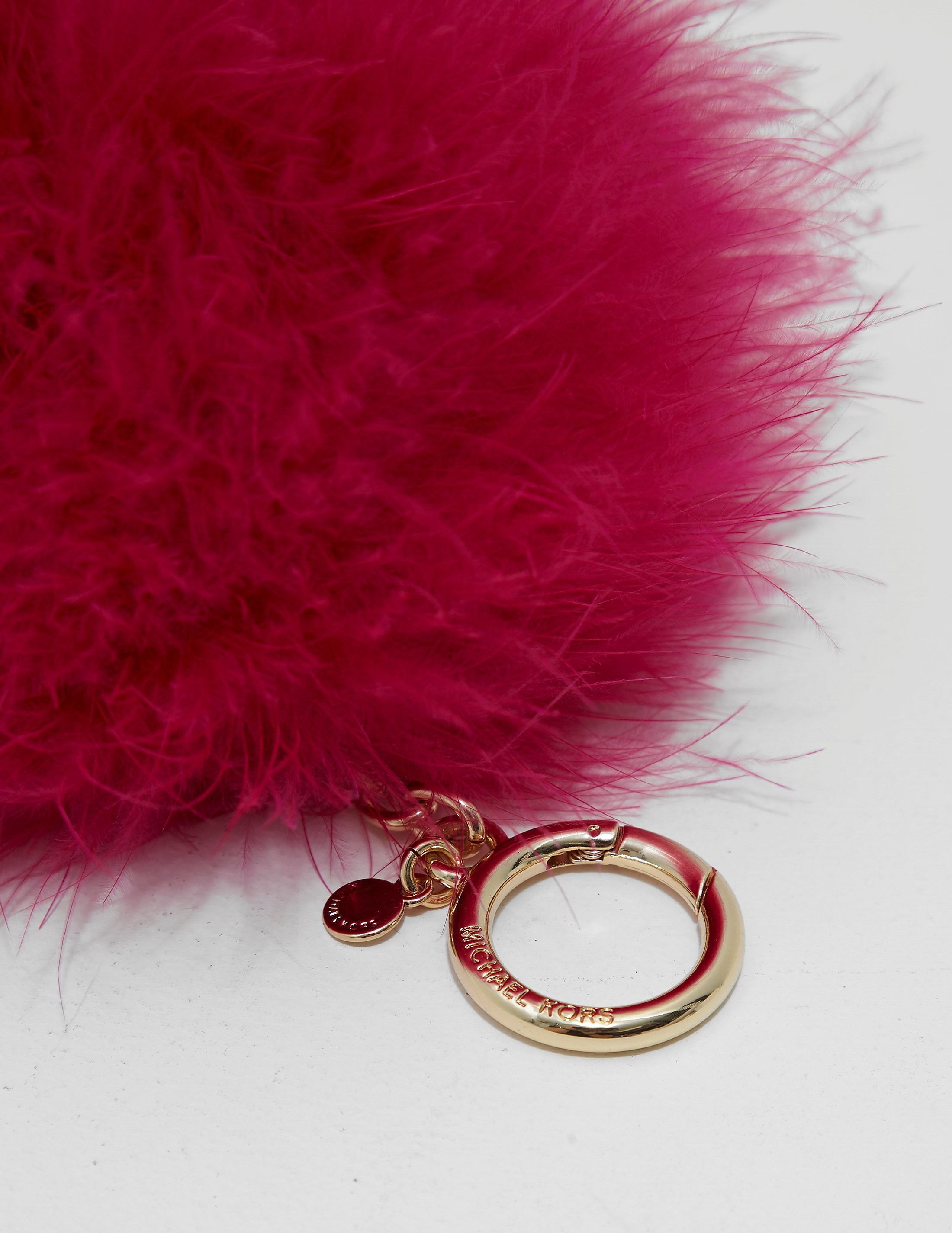 Michael Kors Feather Pom Pom Keychain