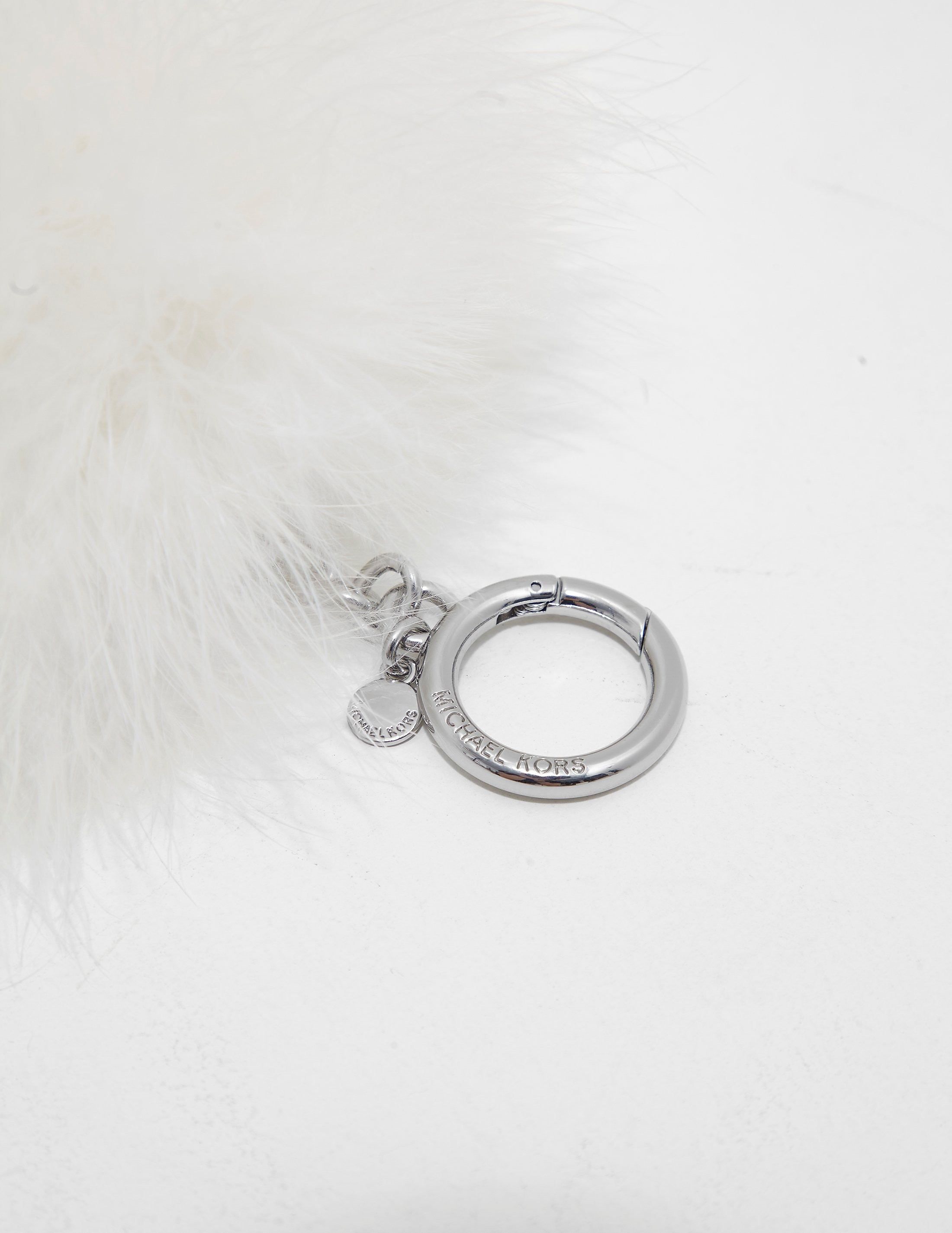 Michael Kors Feather Pom Pom Keyring
