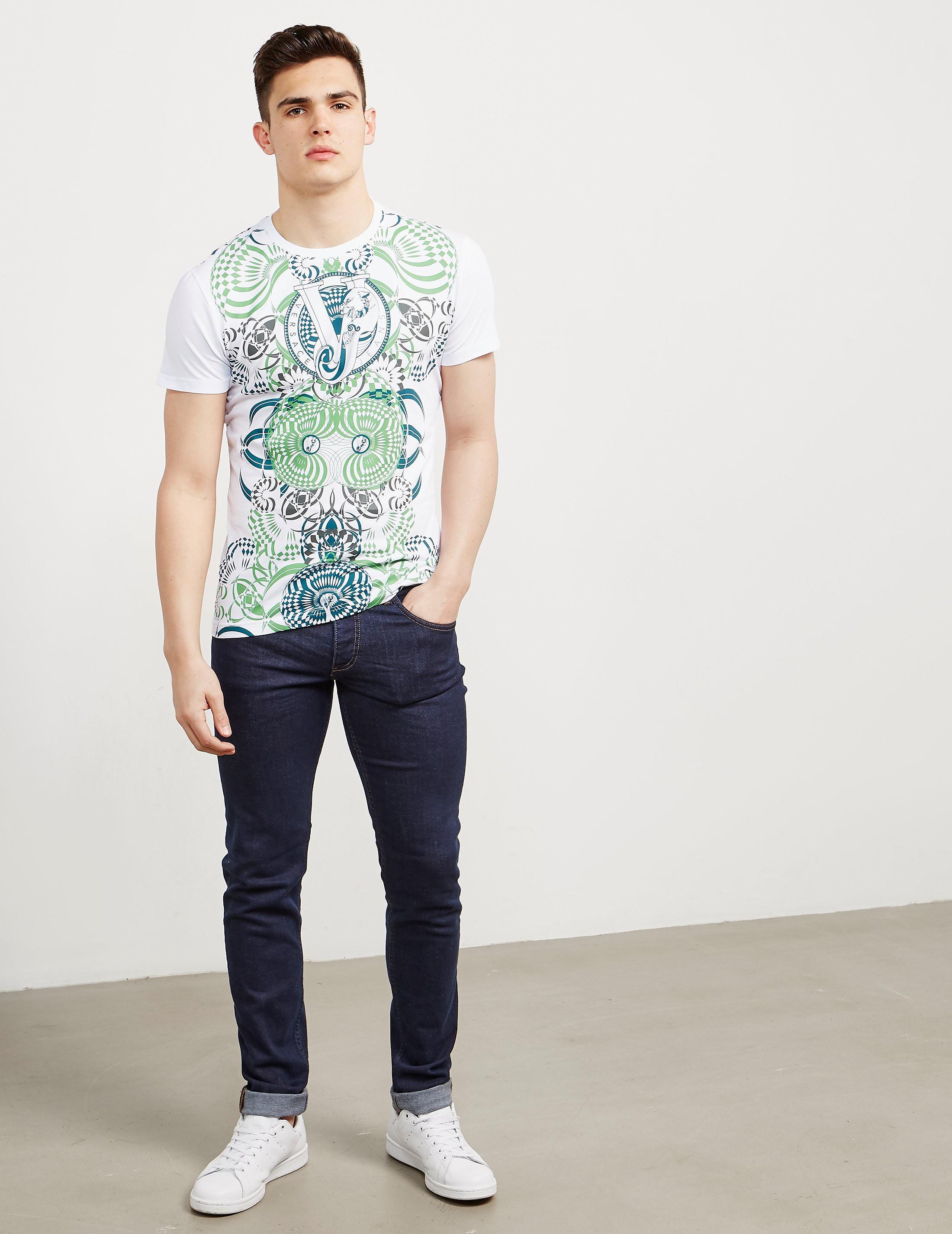 Versace Geo Pattern Short Sleeve T-Shirt