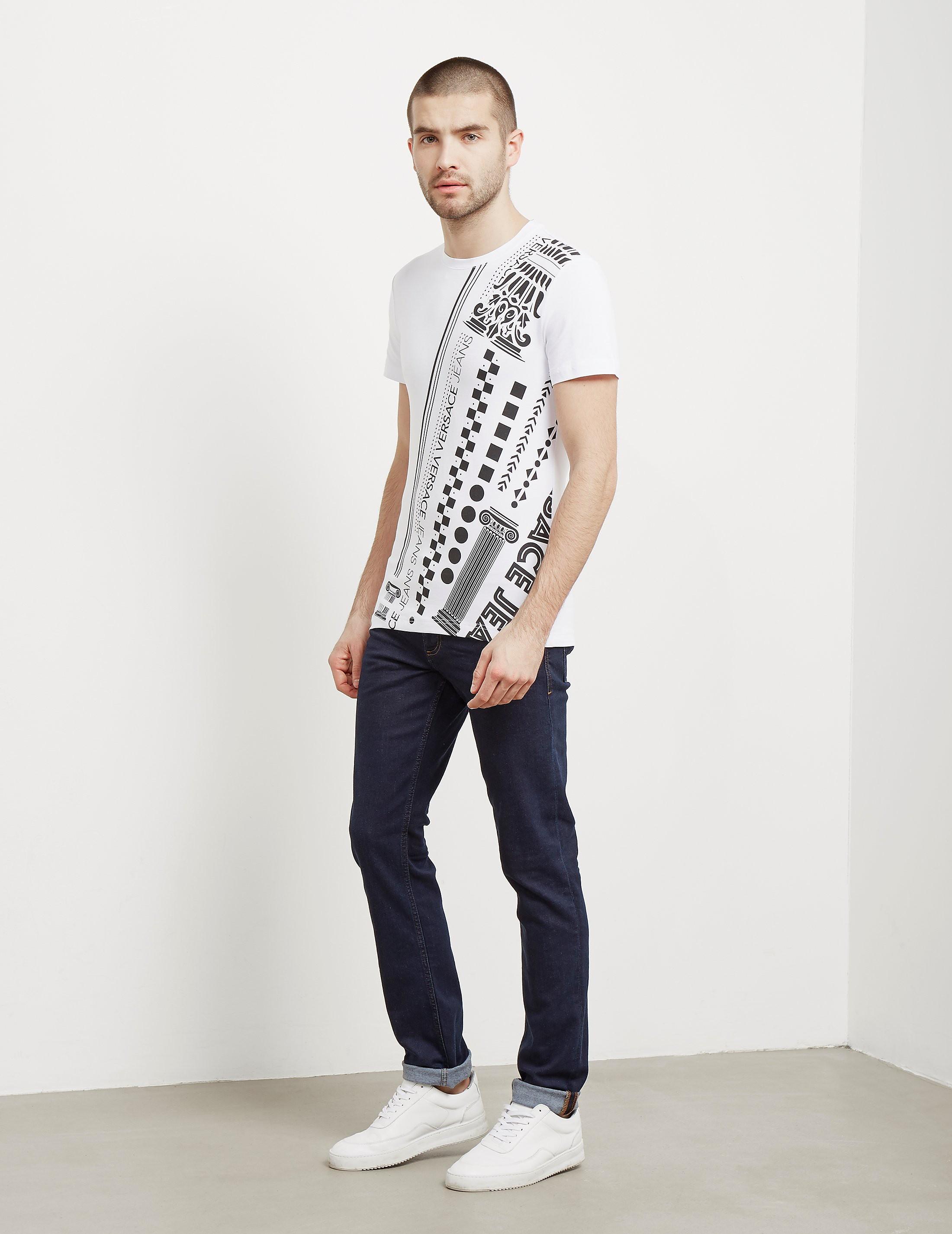 Versace Roman Print Short Sleeve T-Shirt