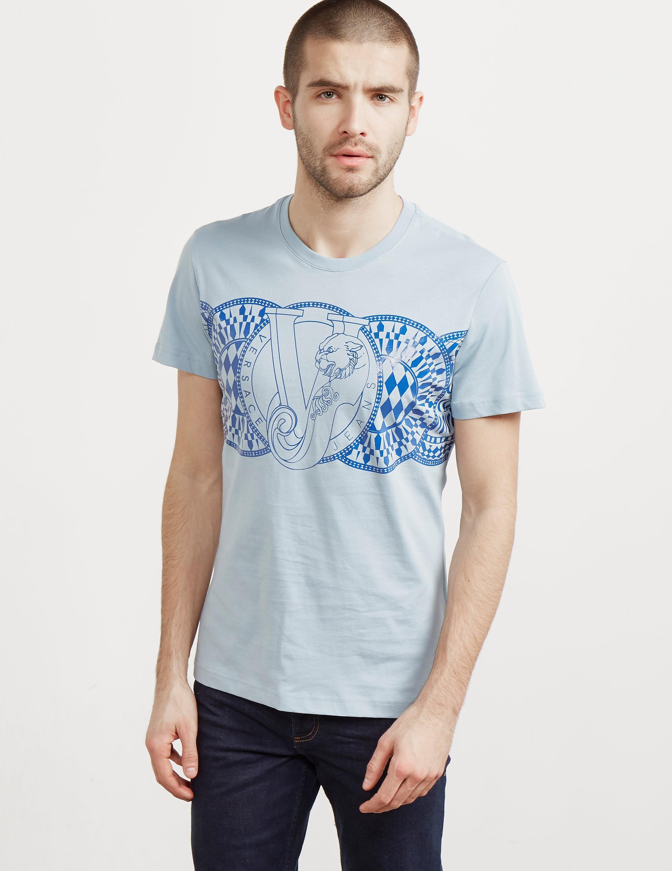 Versace Geo Circle Short Sleeve T-Shirt