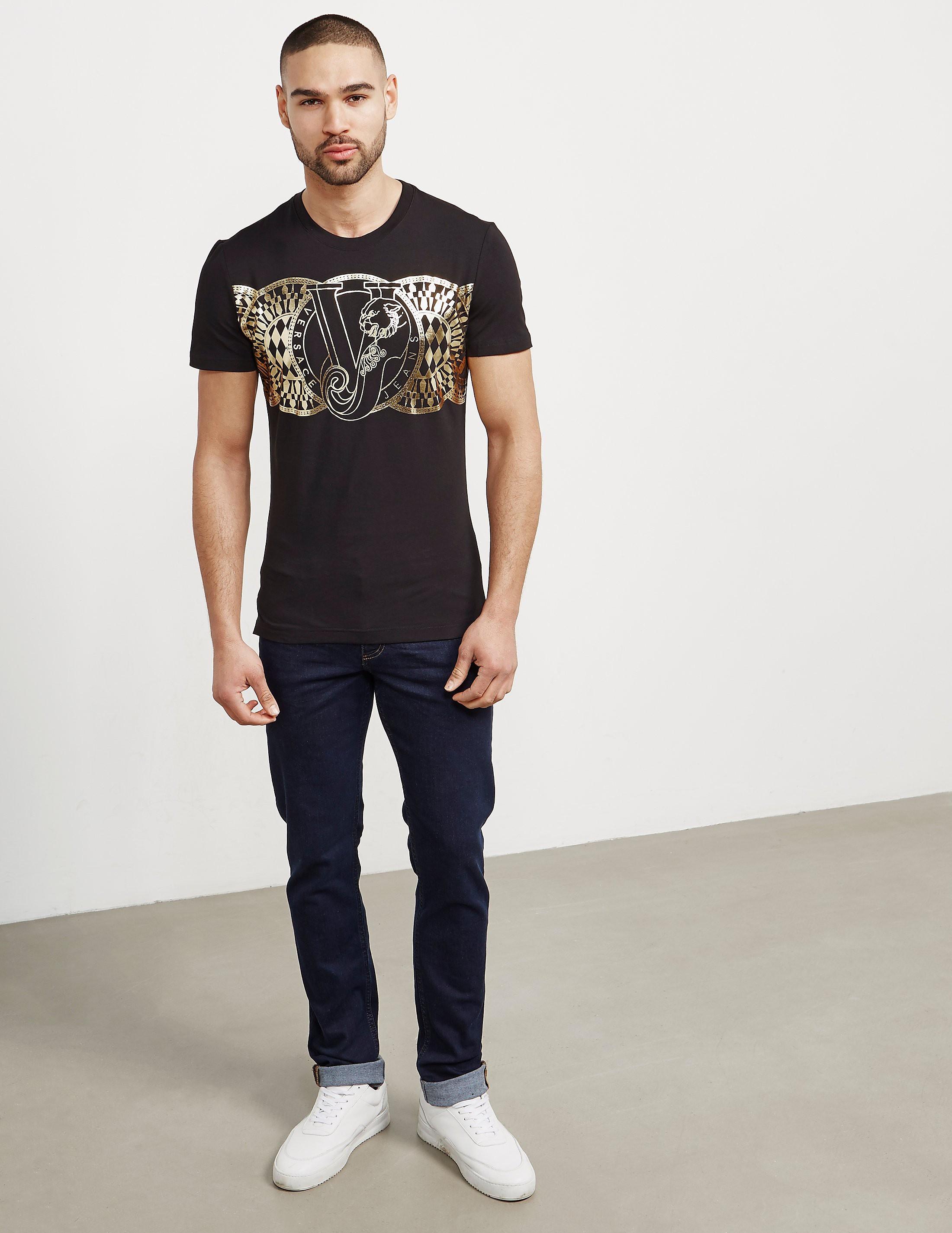 Versace Geo Flower Short Sleeve T-Shirt