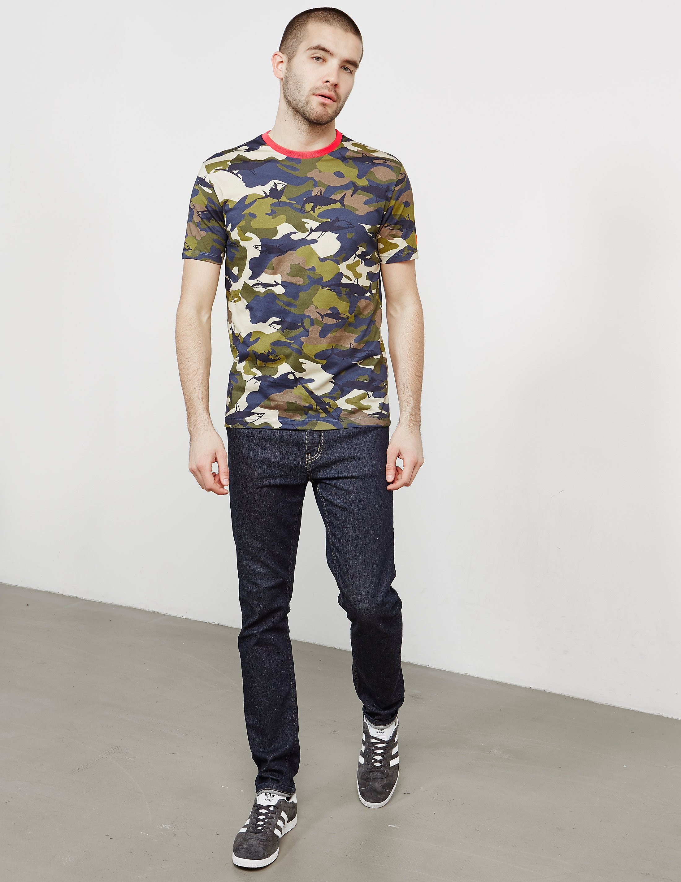 Paul and Shark All Over Camo Shark Short Sleeve T-Shirt