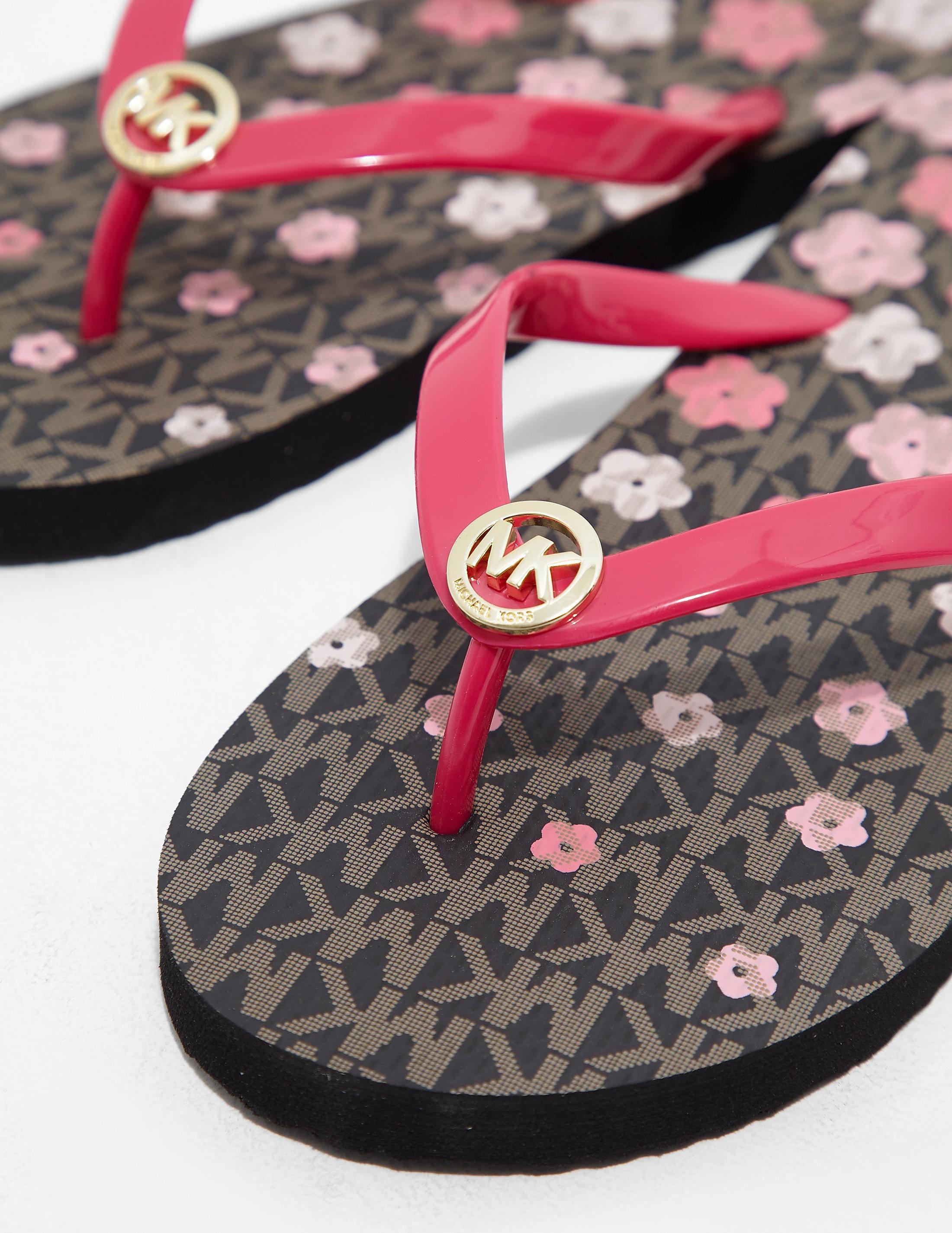 Michael Kors Flower Flip Flop