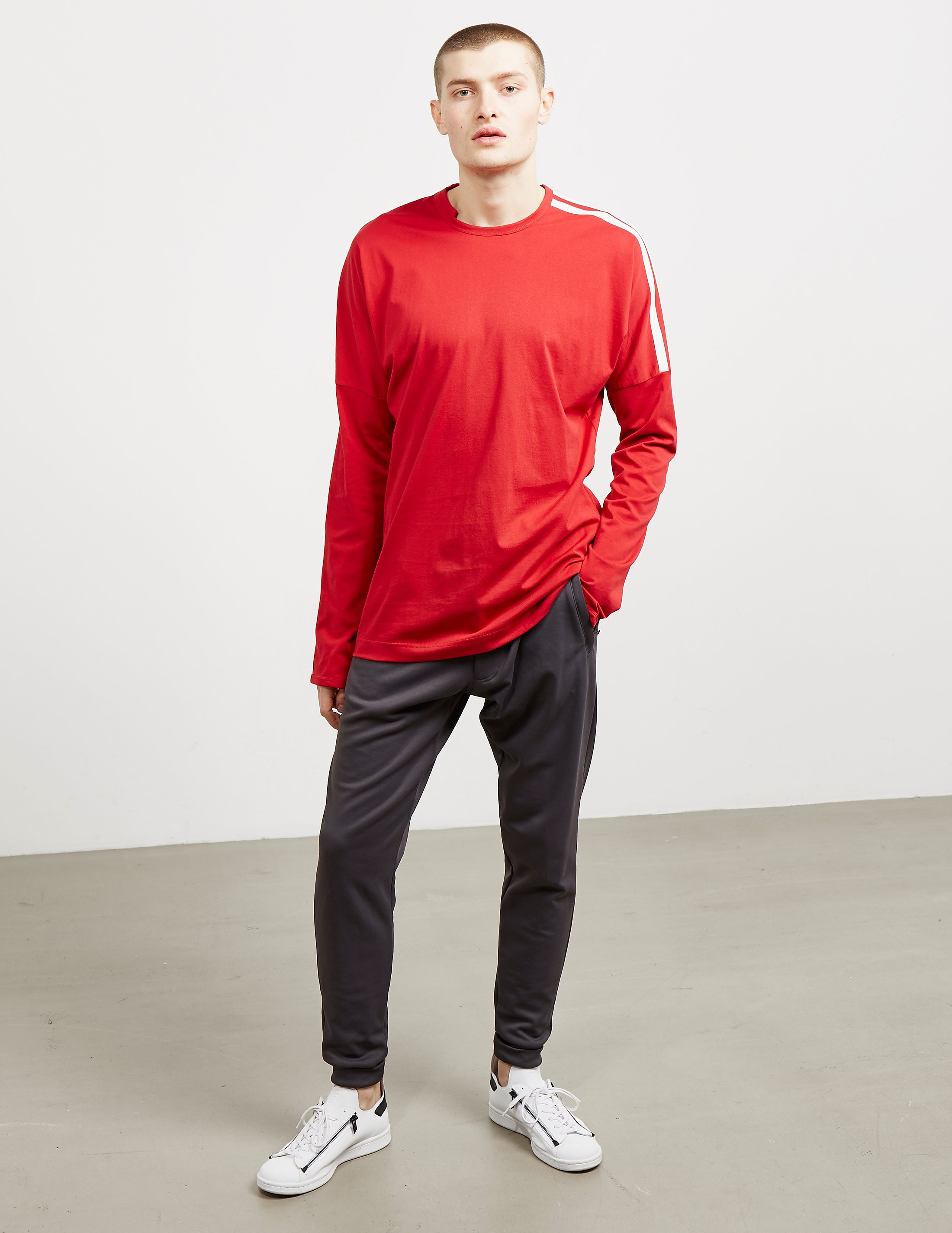 Y-3 Three Stripe Long Sleeve T-Shirt
