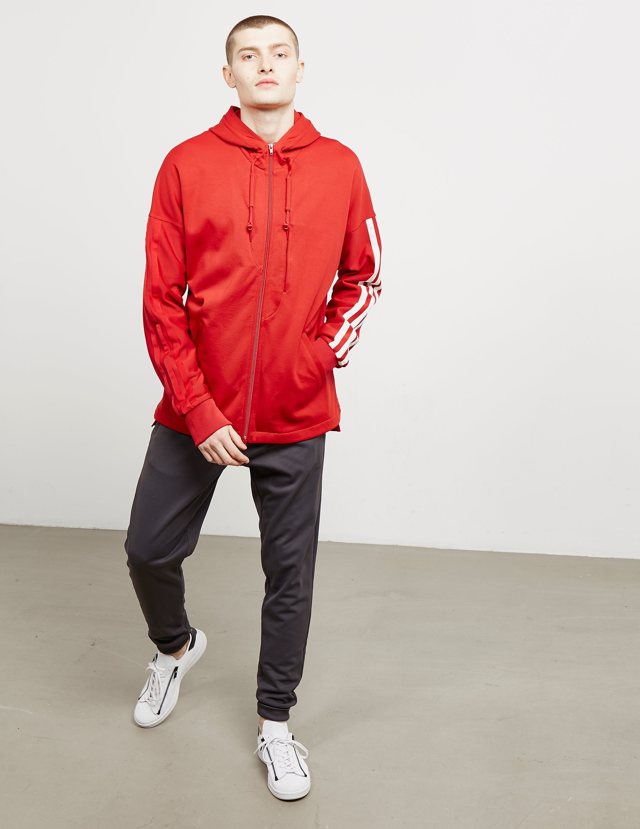 Y-3 Three Stripe Full Zip Hoodie