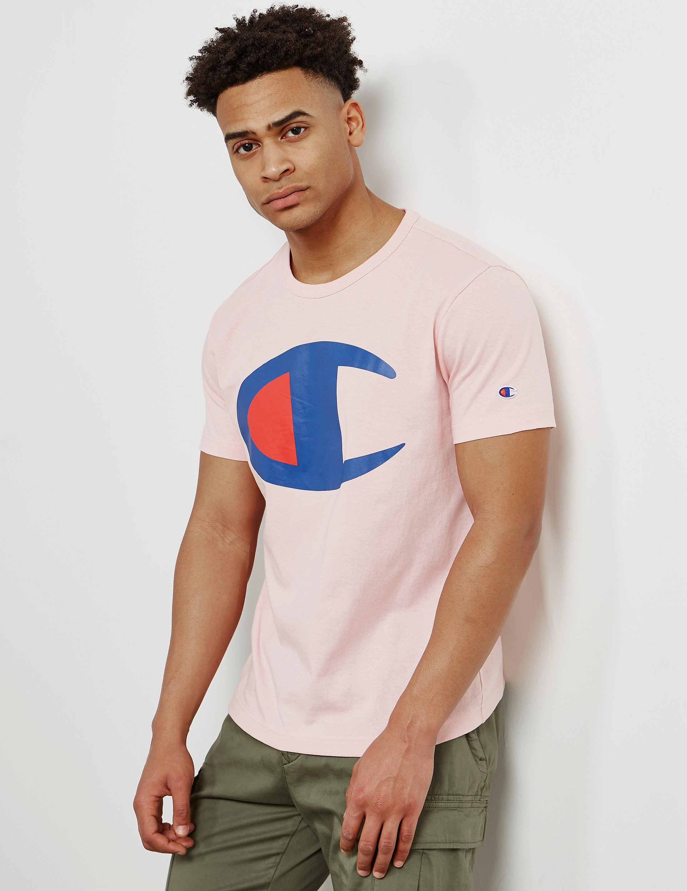Champion Large Print Logo Short Sleeve T-Shirt