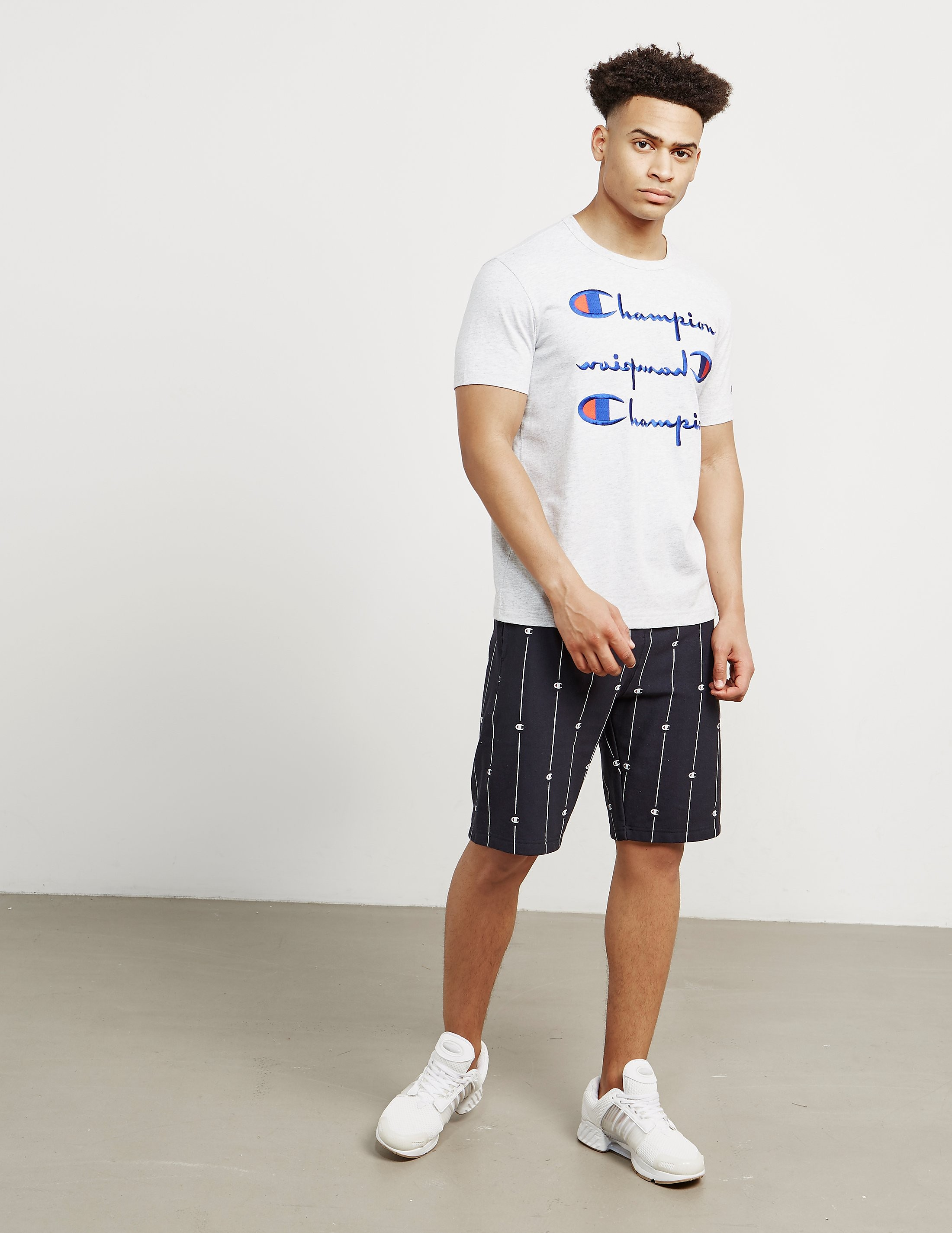 Champion Triple Logo Short Sleeve T-Shirt