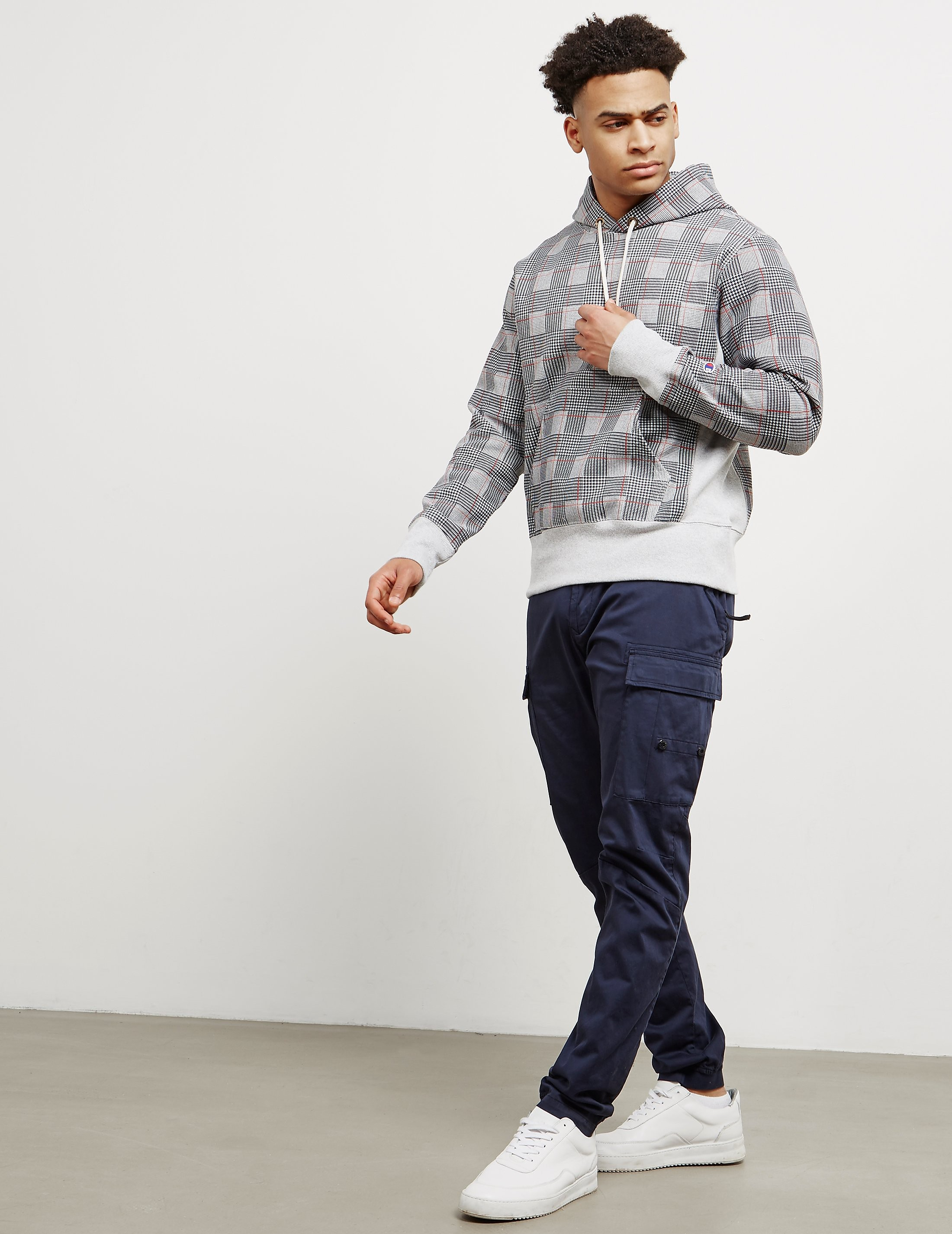 Champion All Over Check Print Hoodie