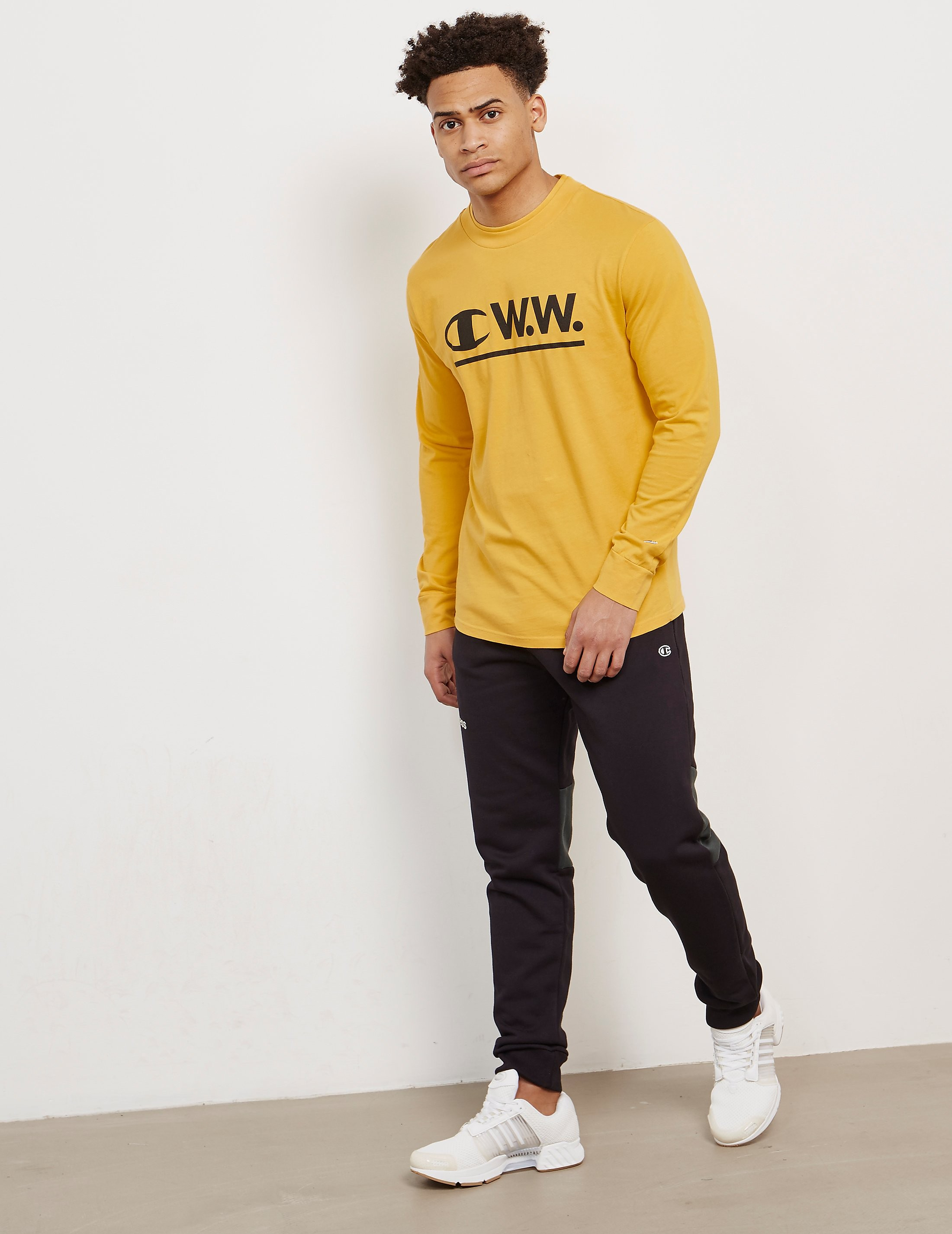 Champion x Wood Wood Logo Long Sleeve T-Shirt